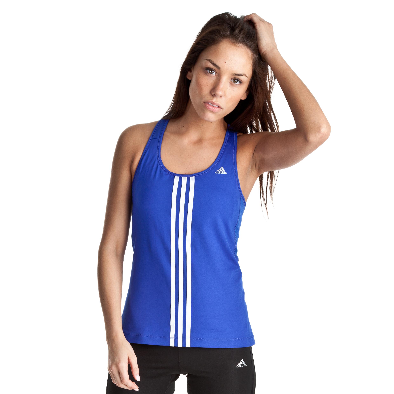 Adidas Climacool 3 Stripe Tank - Cobalt/White/Matte Silver - Womens