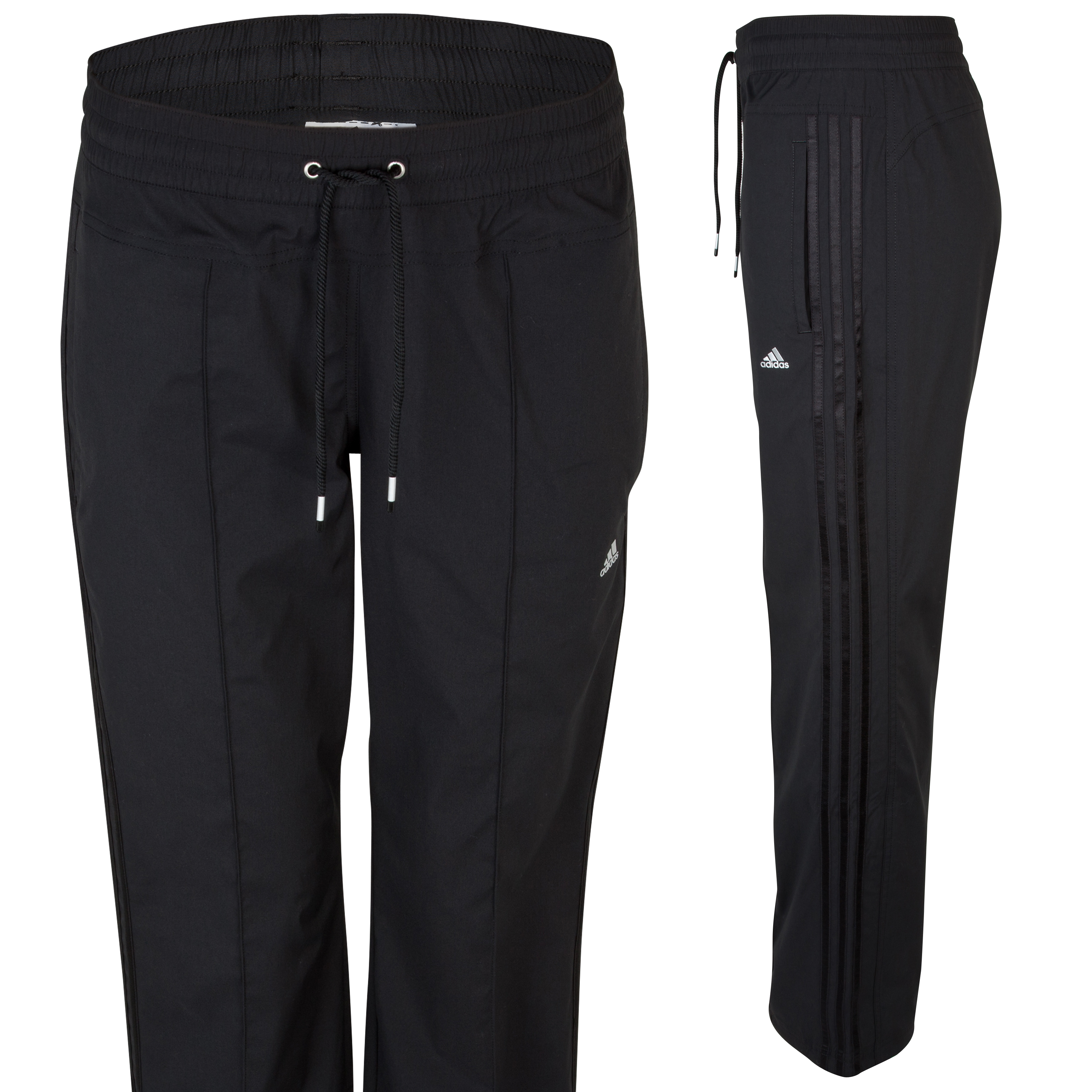 Adidas Climacool Woven Straight Pant - Black/Black/Matte Silver - Womens