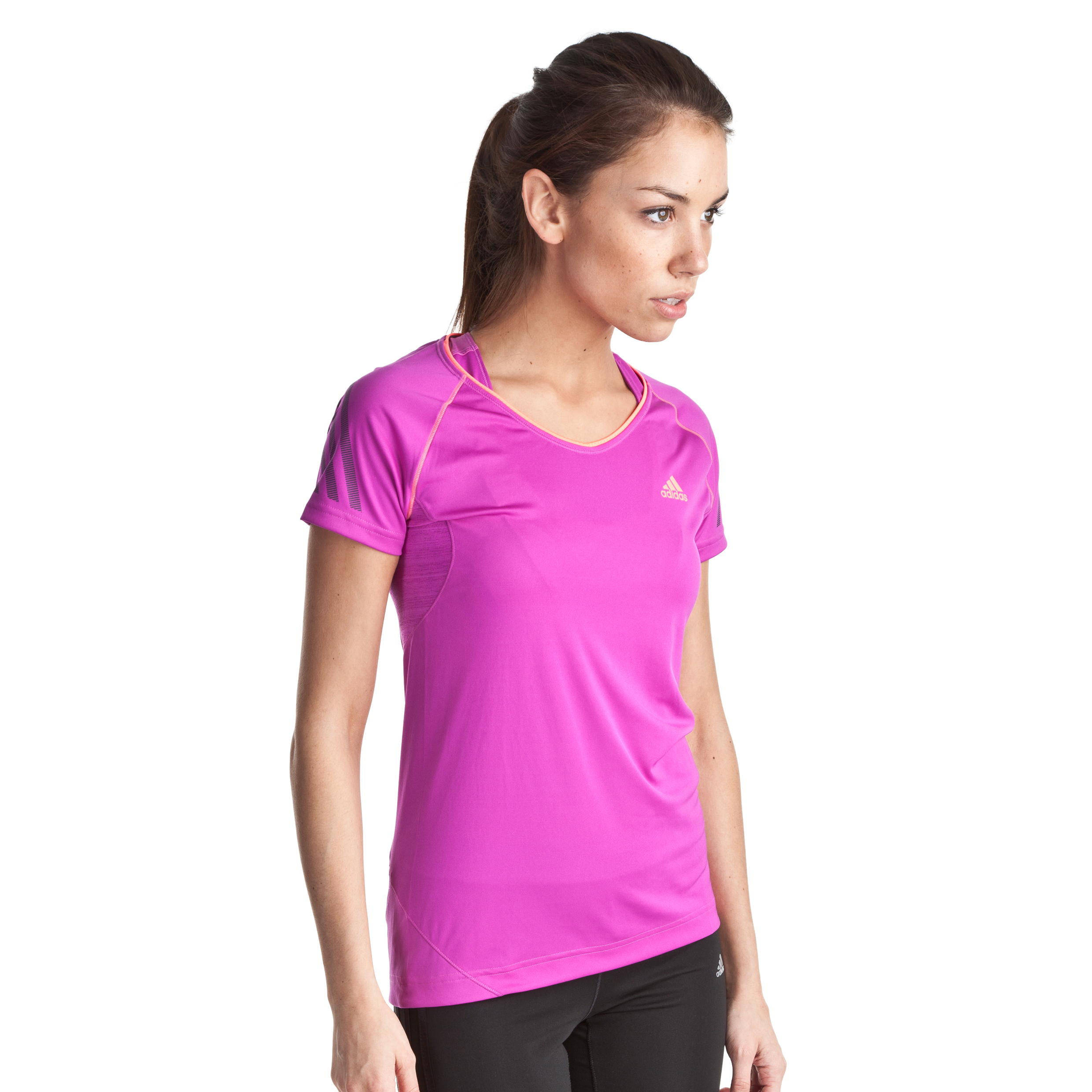 Adidas Supernova Short Sleeve T-Shirt - Vivid Pink S13/Red Zest S13 - Womens