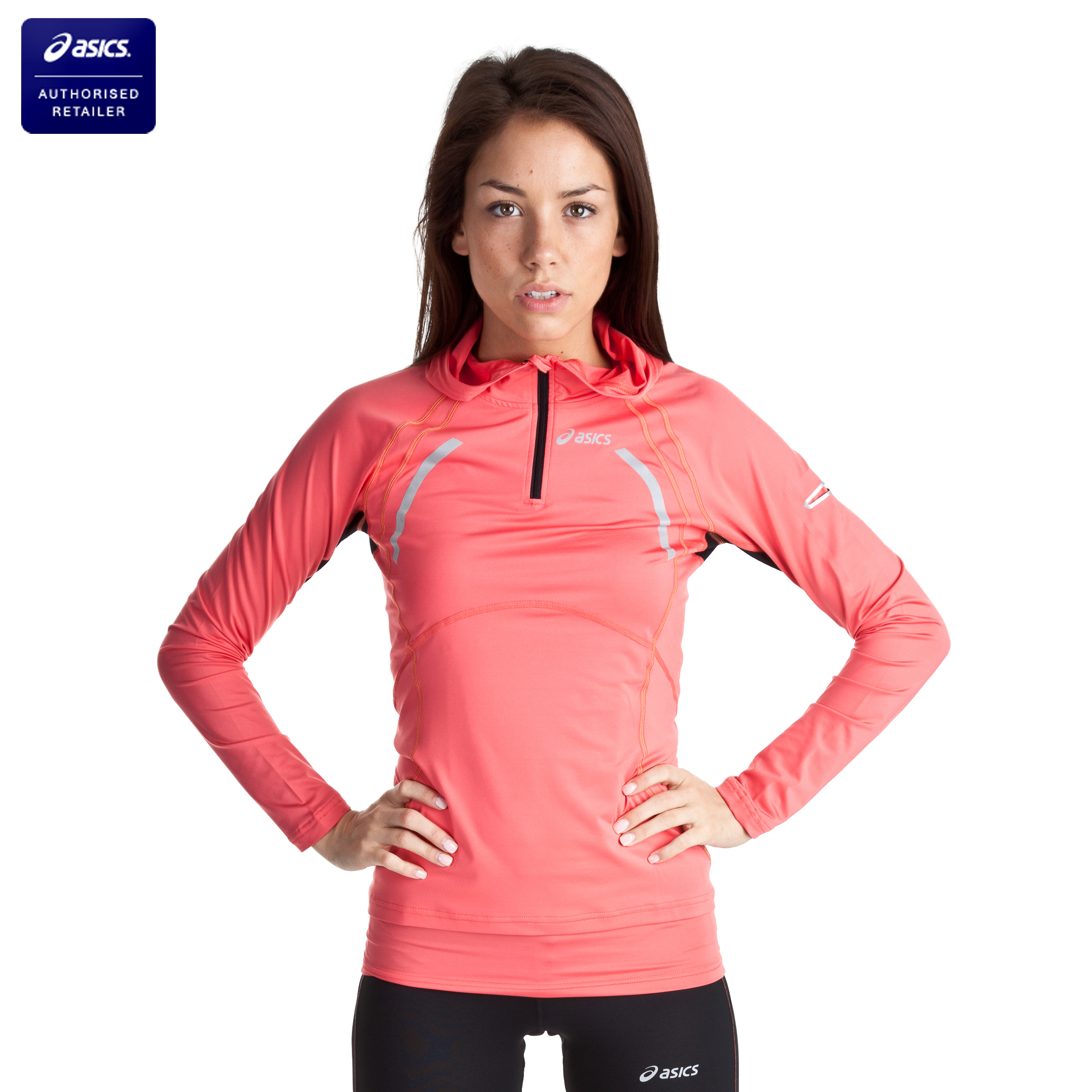 Asics Hoodie - Coral - Womens