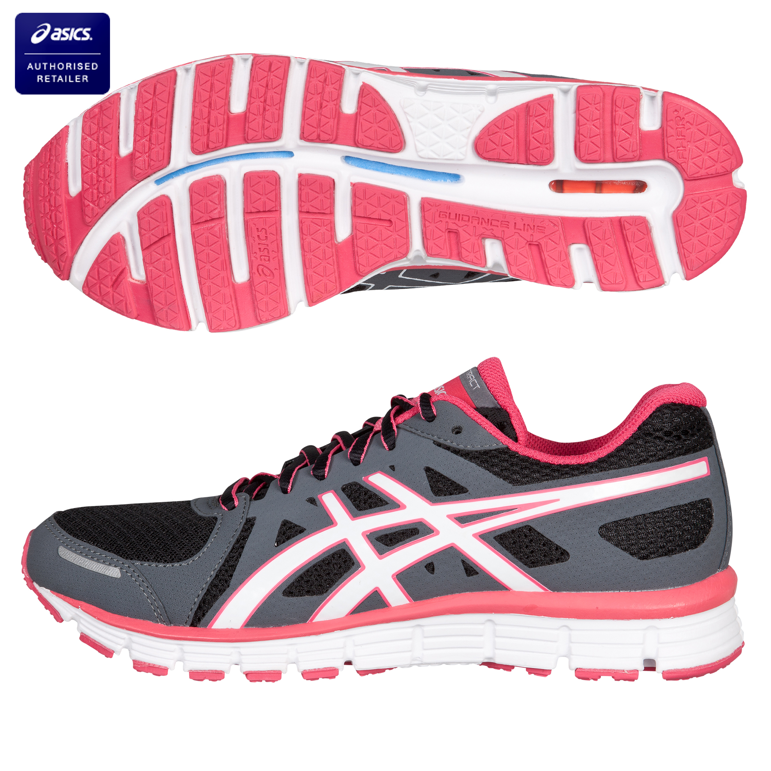 Asics Gel Attract Trainer - Black/White/Rasberry - Womens