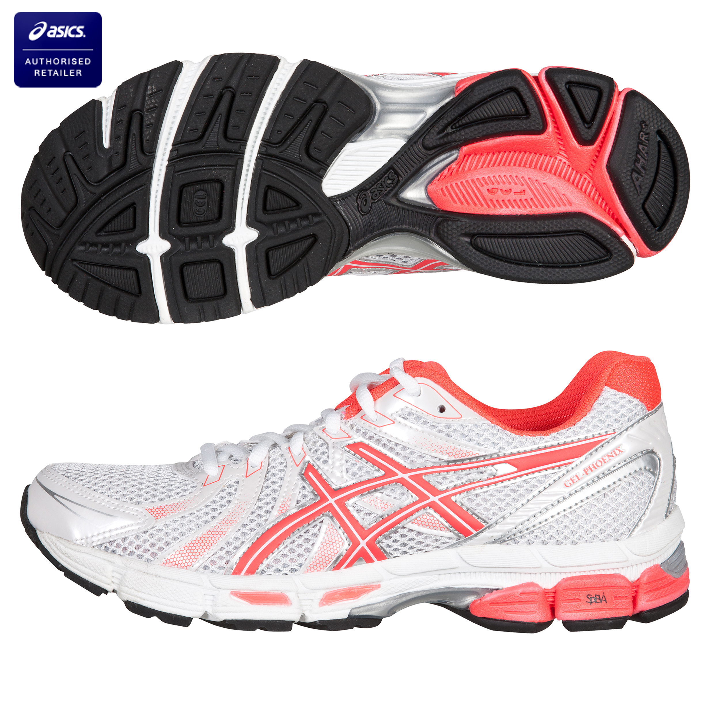 Asics Gel-Phoenix Trainer - White/Hot Pink/Silver - Womens
