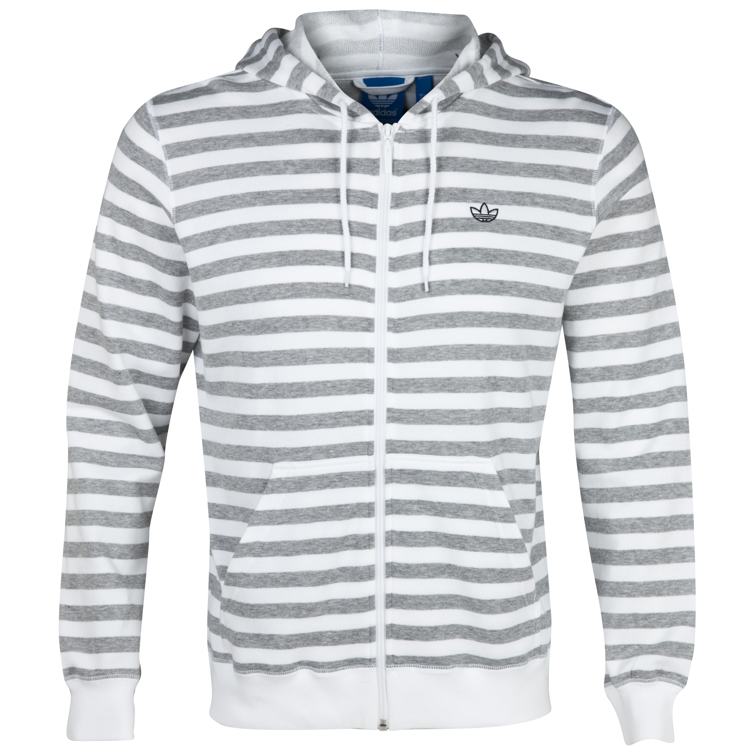 Originals Stripe Hood FZ - Medium Grey Heather