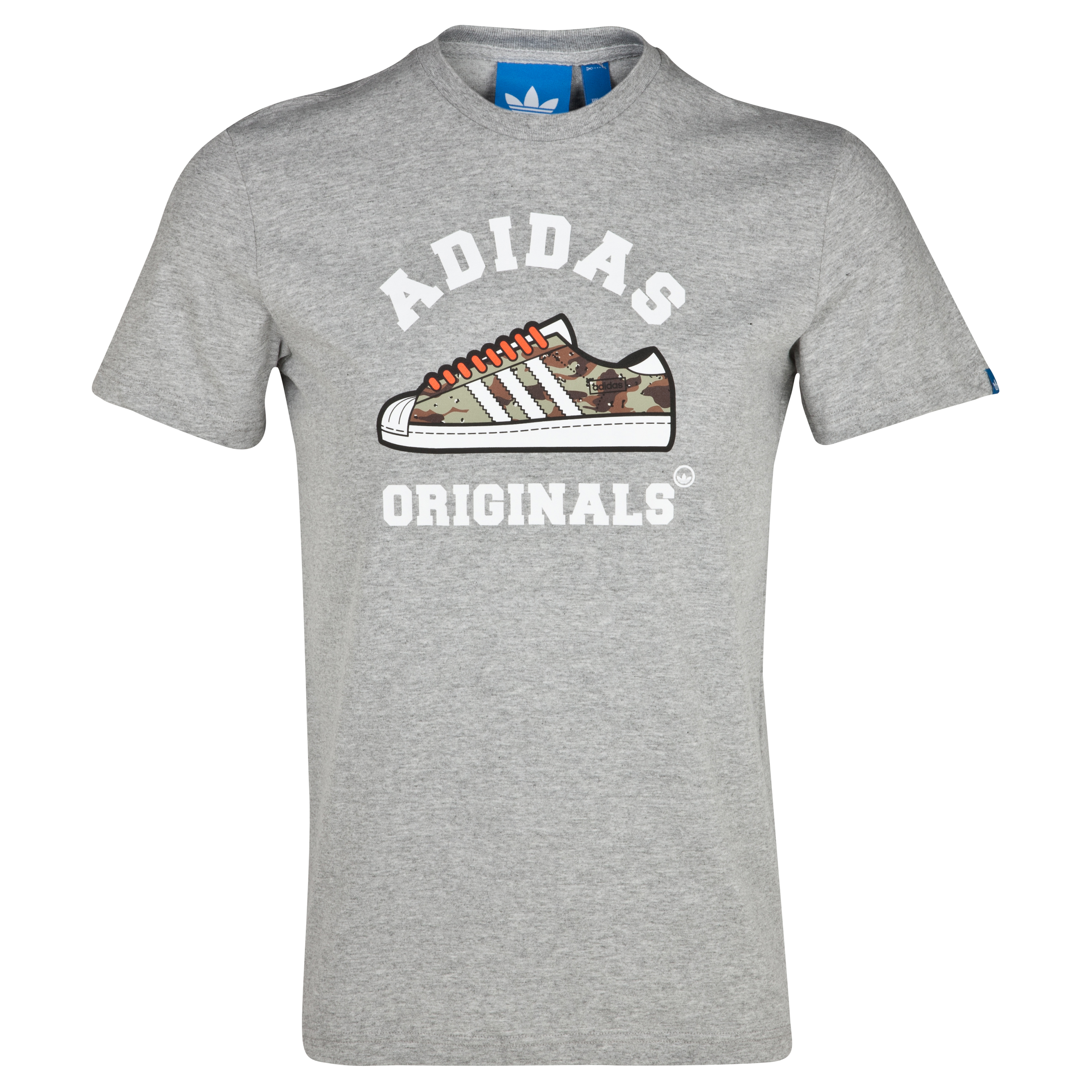 Adidas Originals Camo Tee - Medium Grey Heather