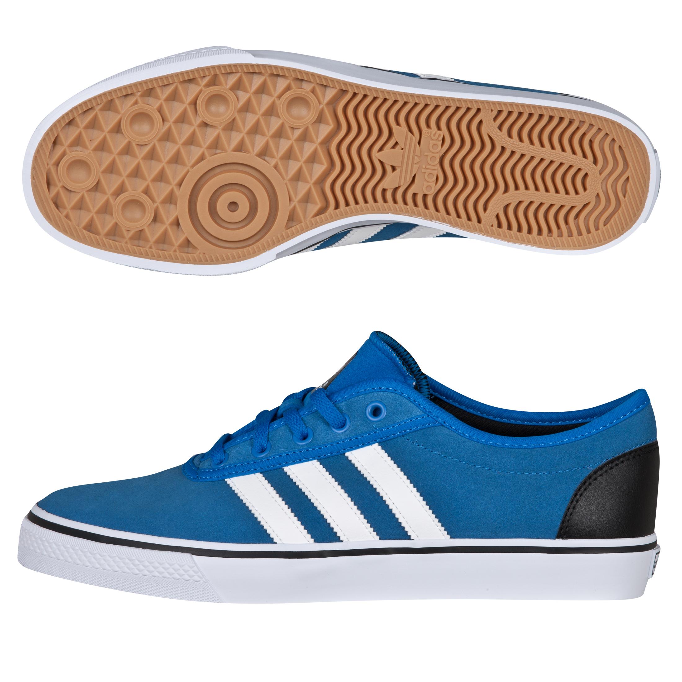 Adidas Originals Adi Ease Suede Trainers - Bluebird/White/Black