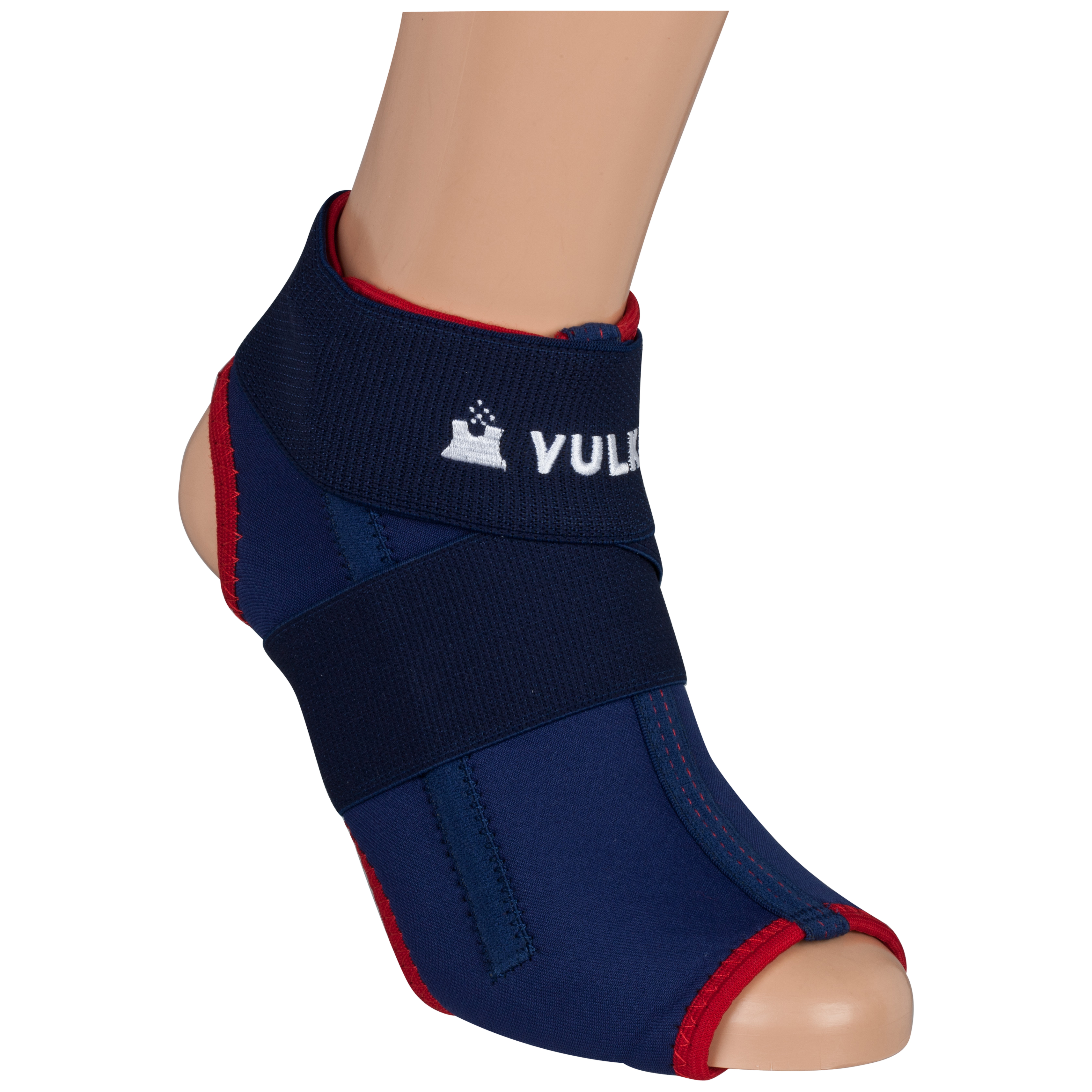 Vulkan Ankle Brace (Right) - Blue/Red