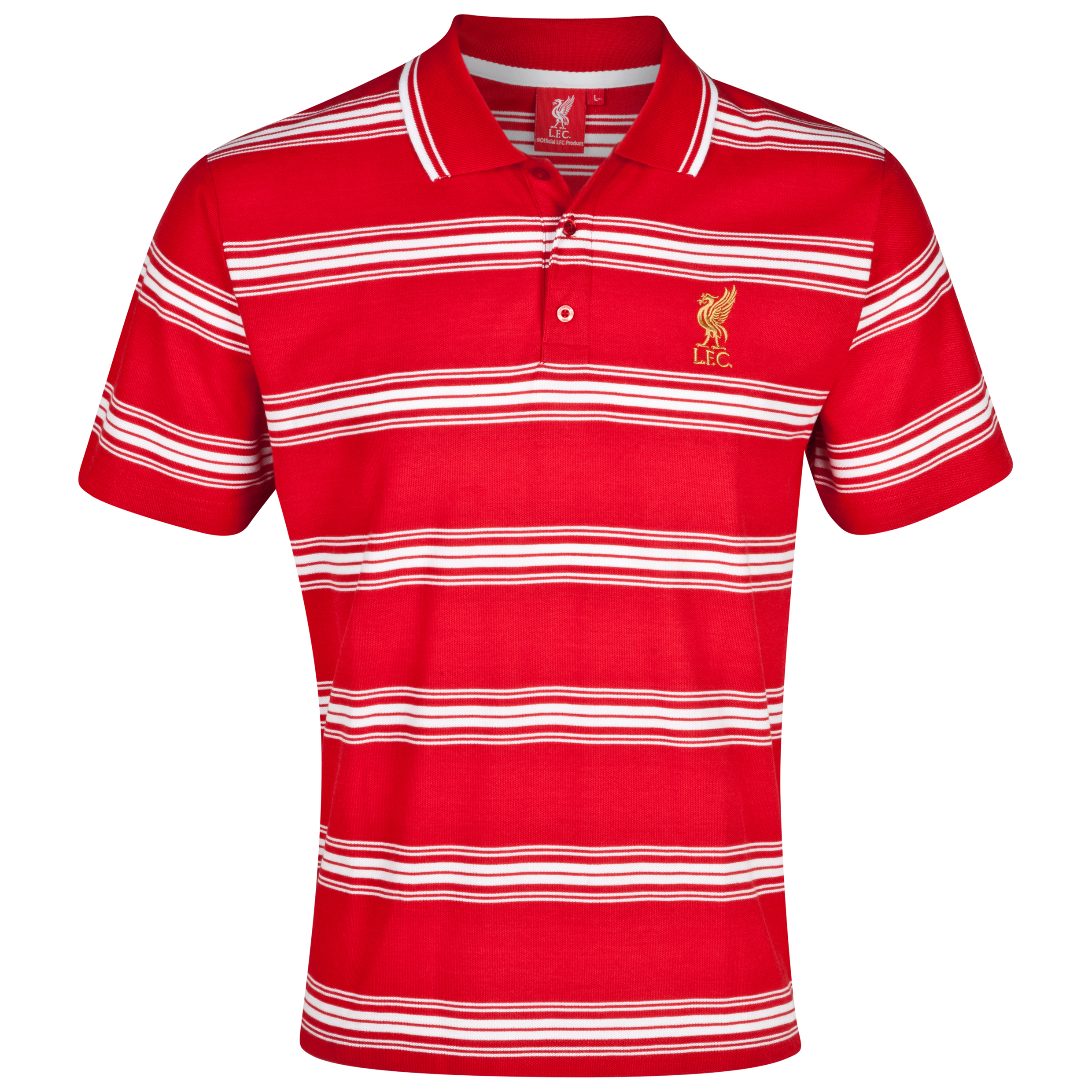 Liverpool Striped Polo - Red/white Picture