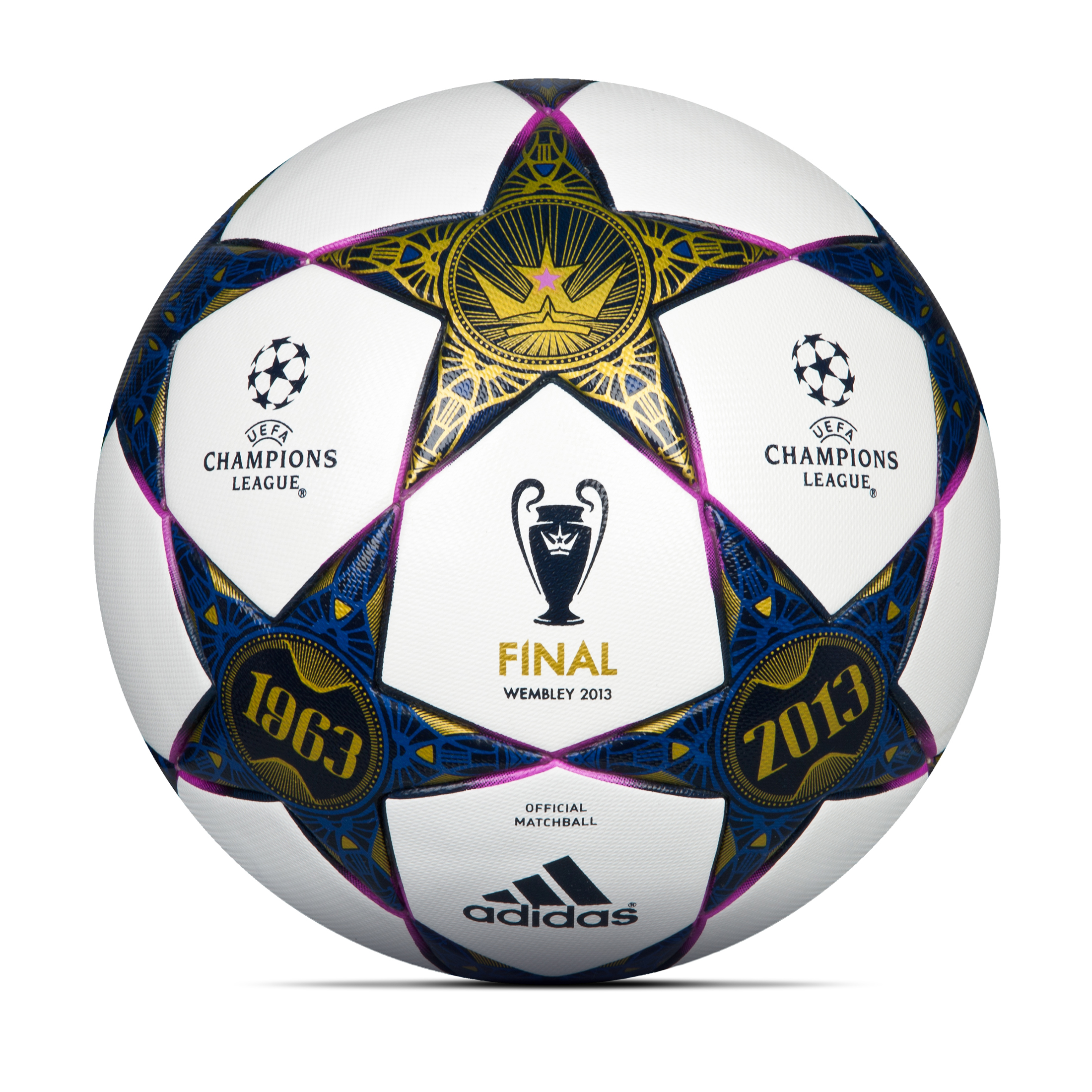 adidas UCL Final Wembley Official Match Ball - White/Pantone/Vivid Pink