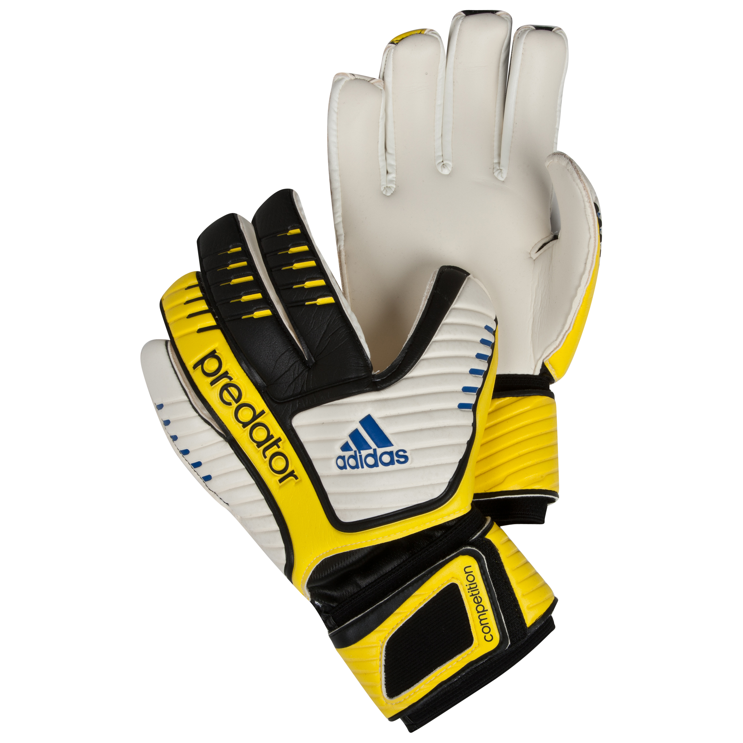 adidas Pred Comp Goalkeeper Gloves - Black/White/Vivid Yellow/Prime Blue