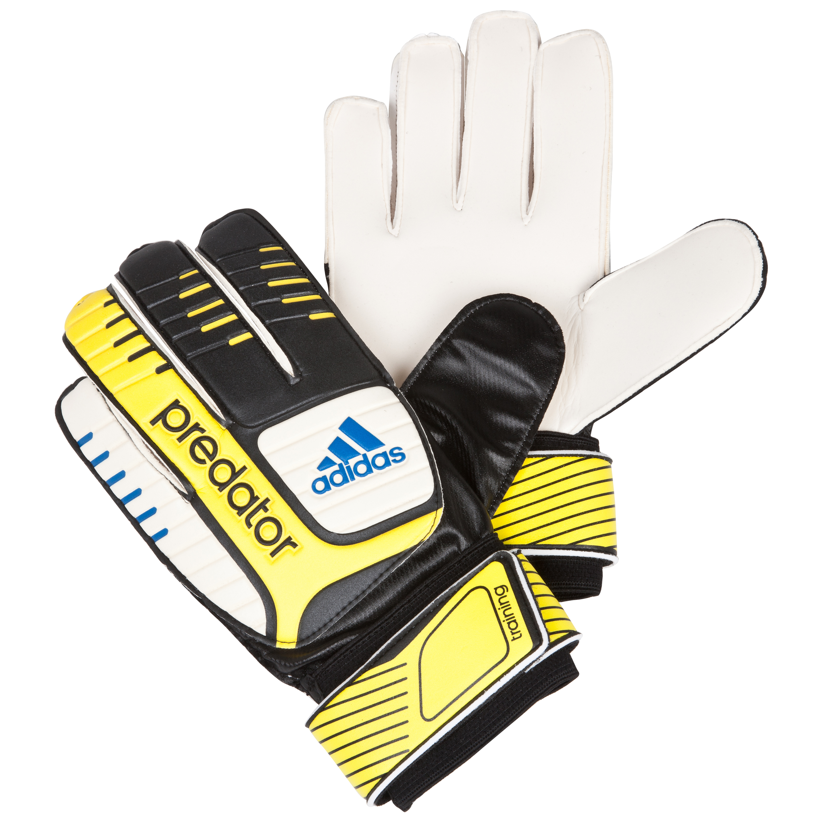 adidas Pred Training Goalkeeper Gloves - Black/White/Vivid Yellow/Prime Blue