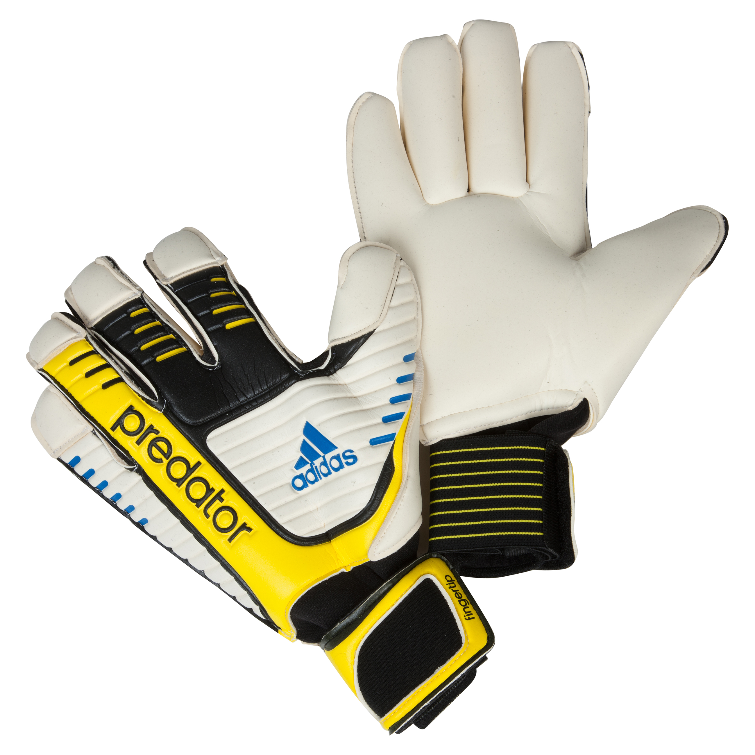 Adidas Pred FT Goalkeeper Gloves - Black/White/Vivid Yellow/Prime Blue