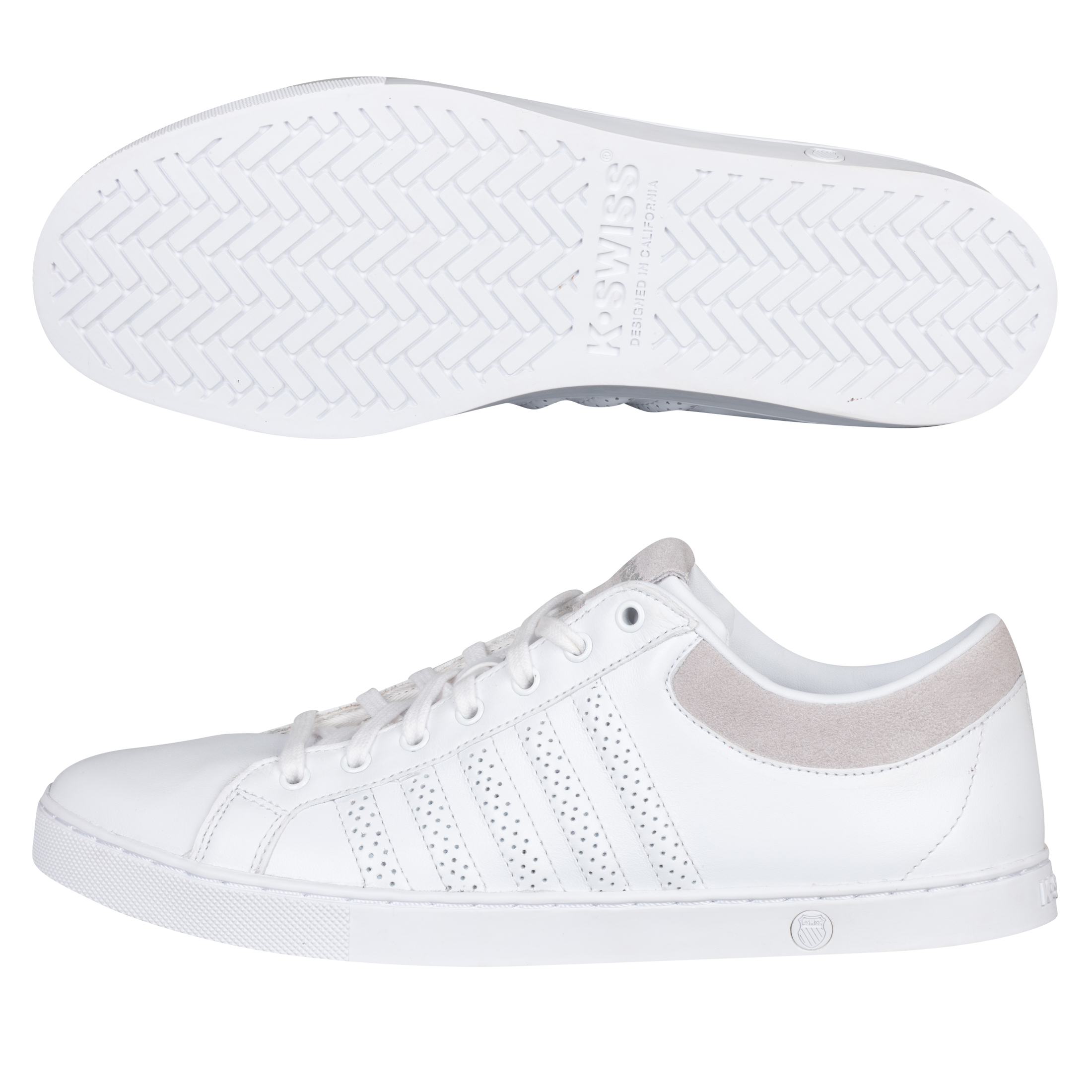 K Swiss K-Swiss Adcourt 72 Trainers - White/Gull Gray