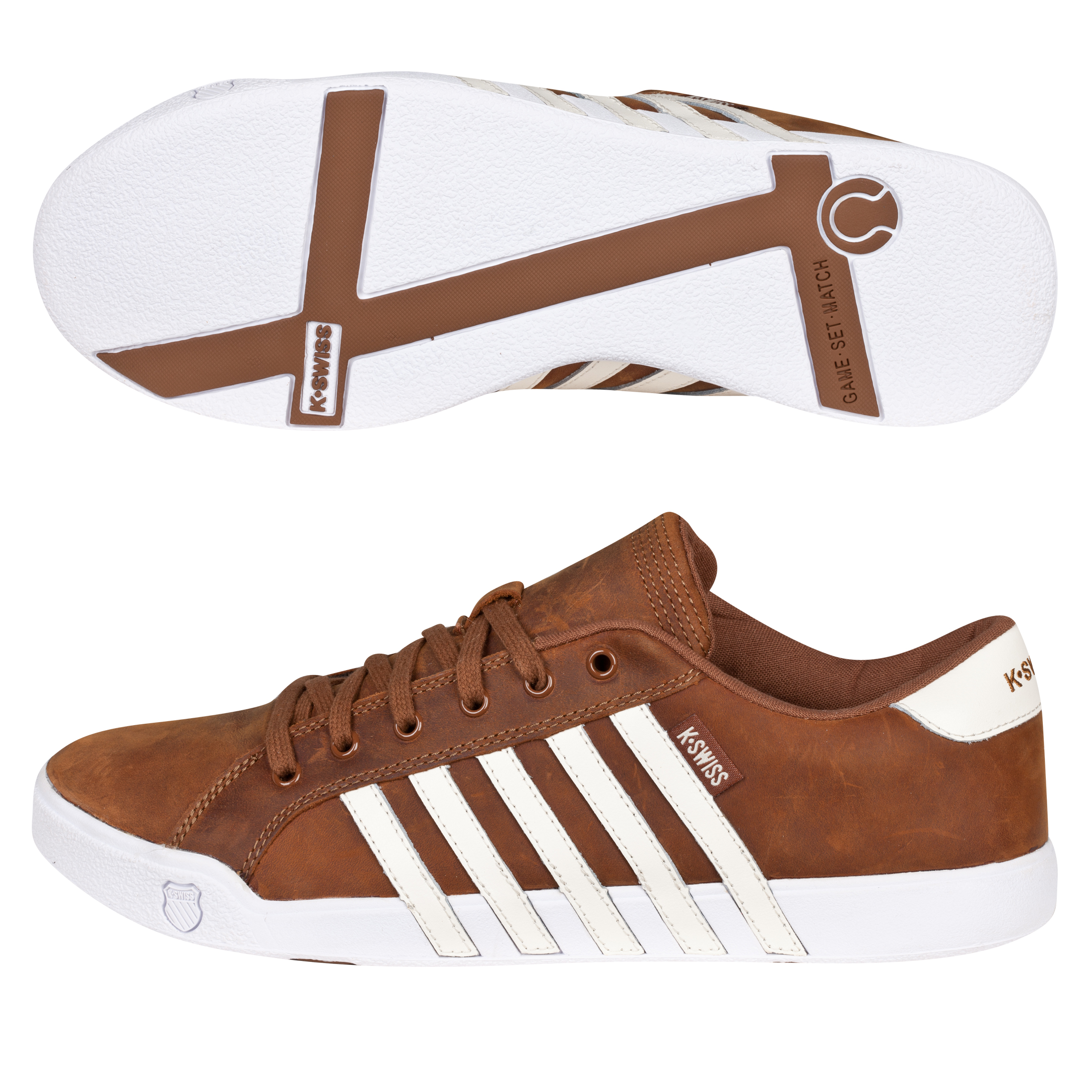 K Swiss K-Swiss Newport II Trainers - Cowboy/Antique White
