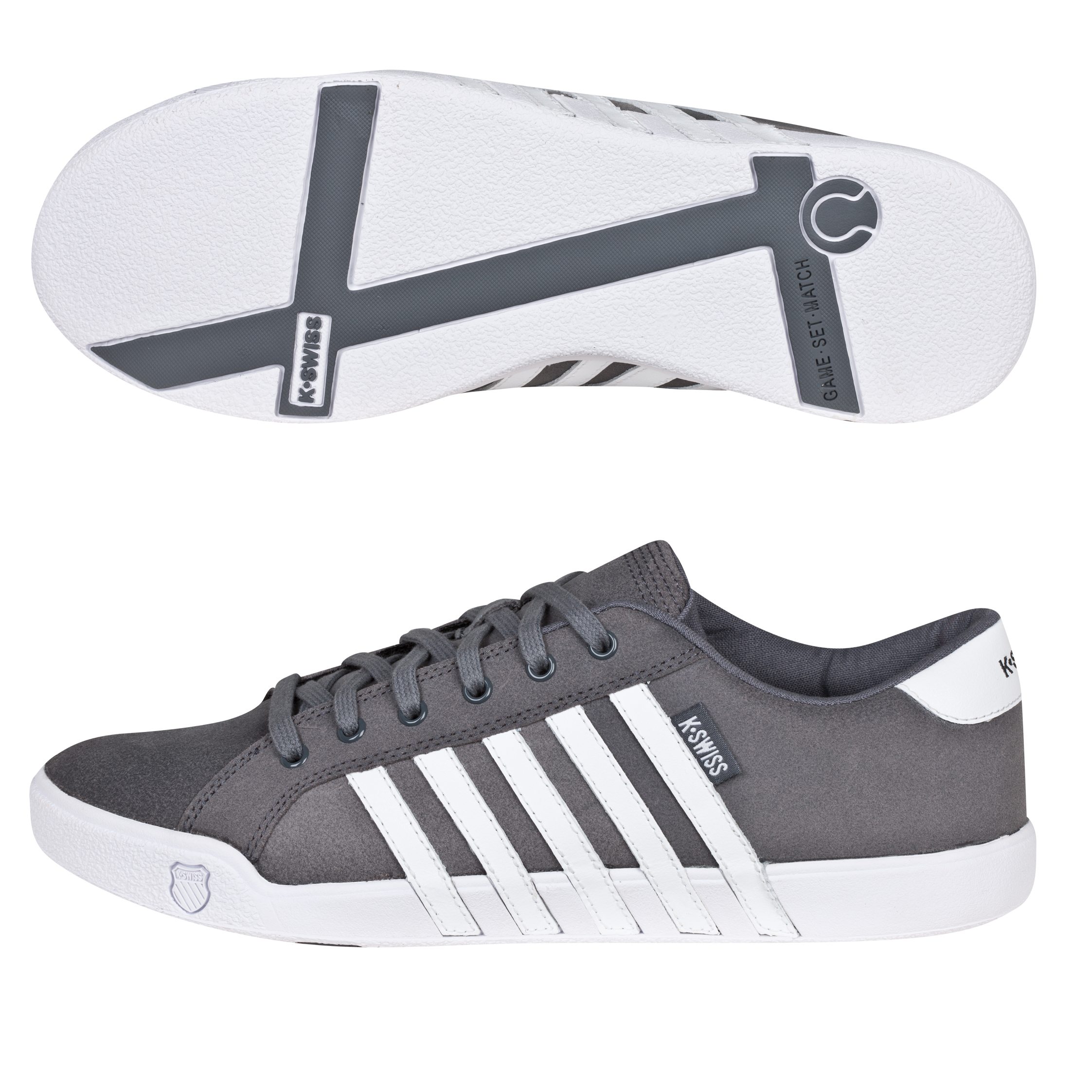 K Swiss K-Swiss Newport II Trainers - Castle Gray/White