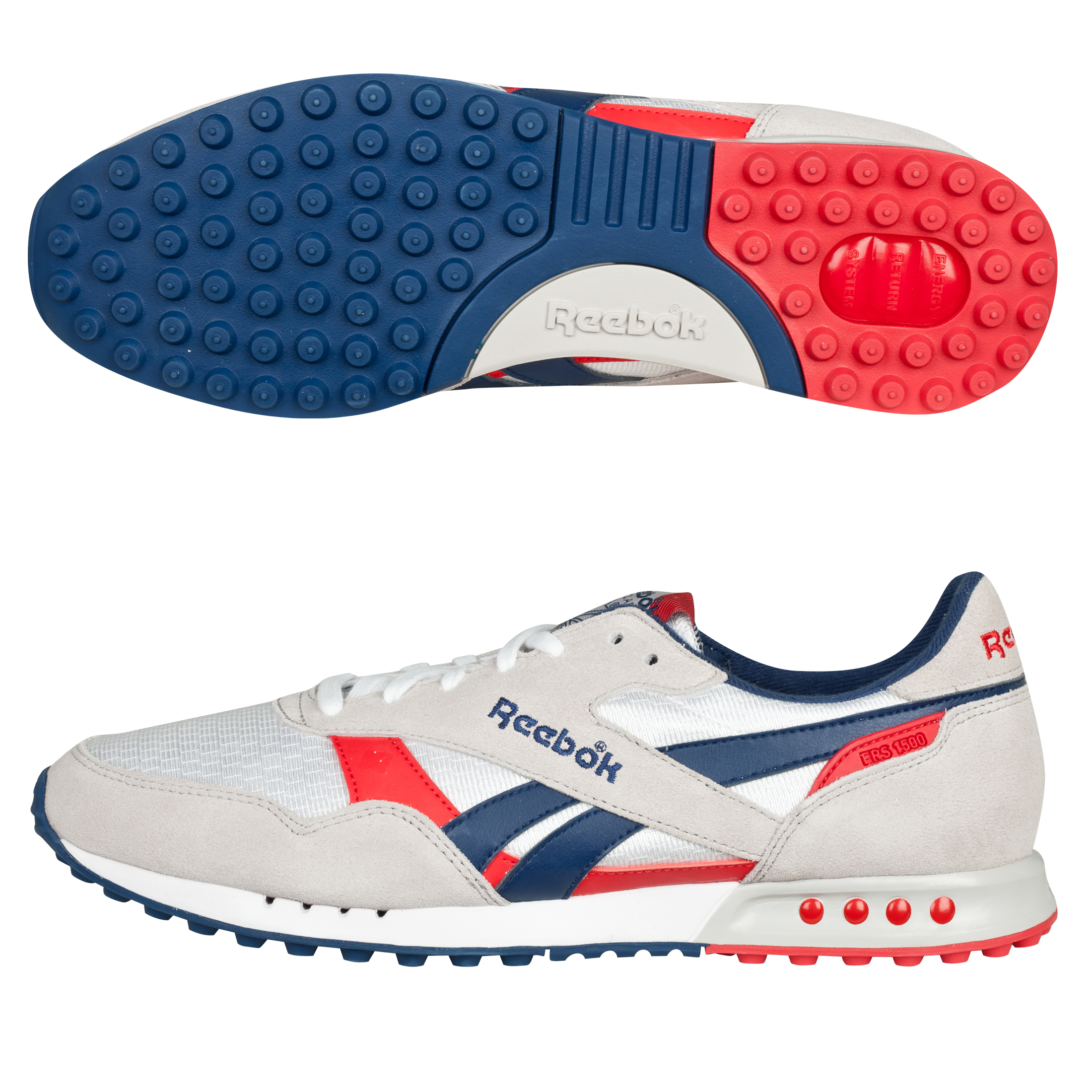Reebok ERS 1500 Trainers - White/Steel/Club Blue/Red Attack