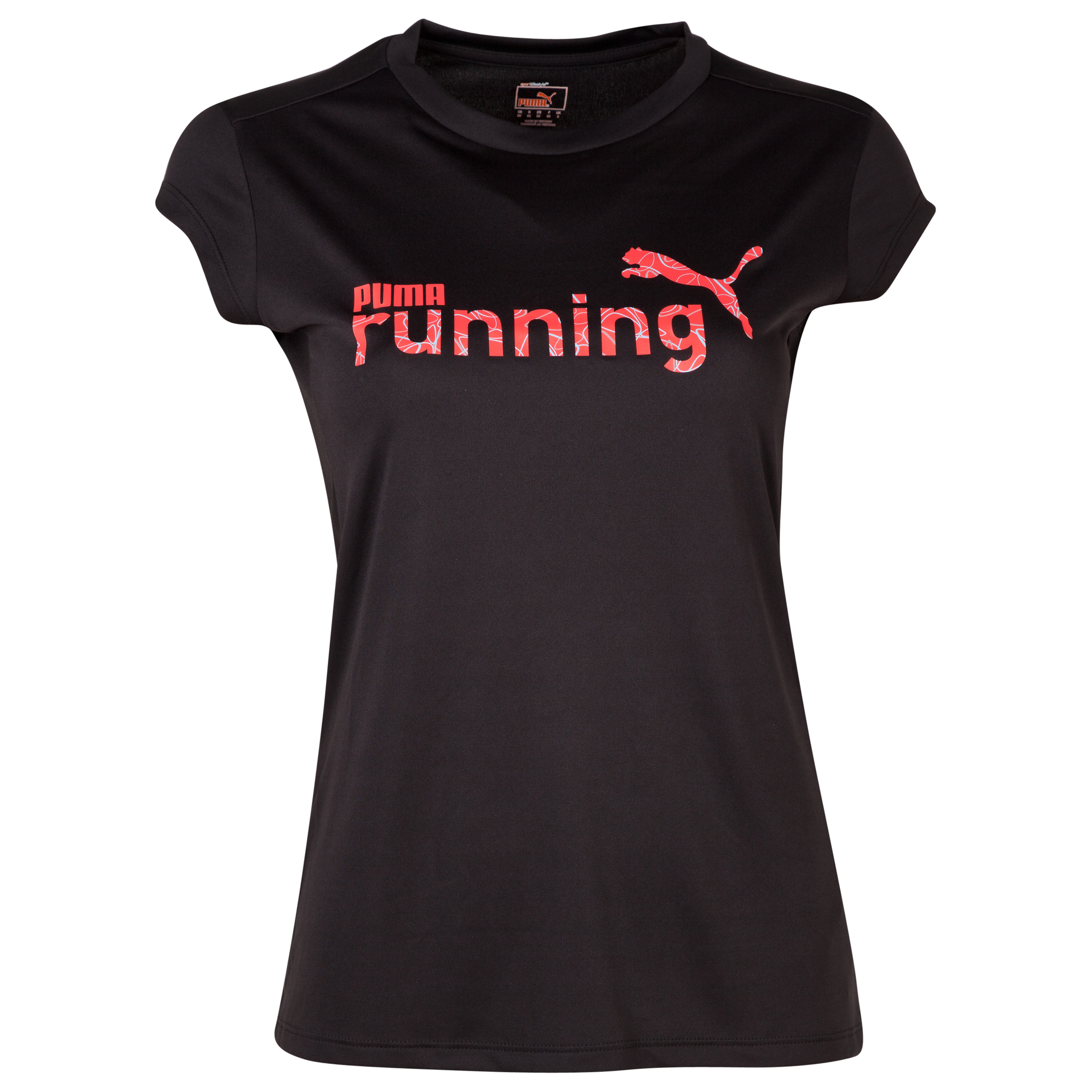 Puma Complete Running Graphic Slogan Short Sleeve Tee - Black - Womens