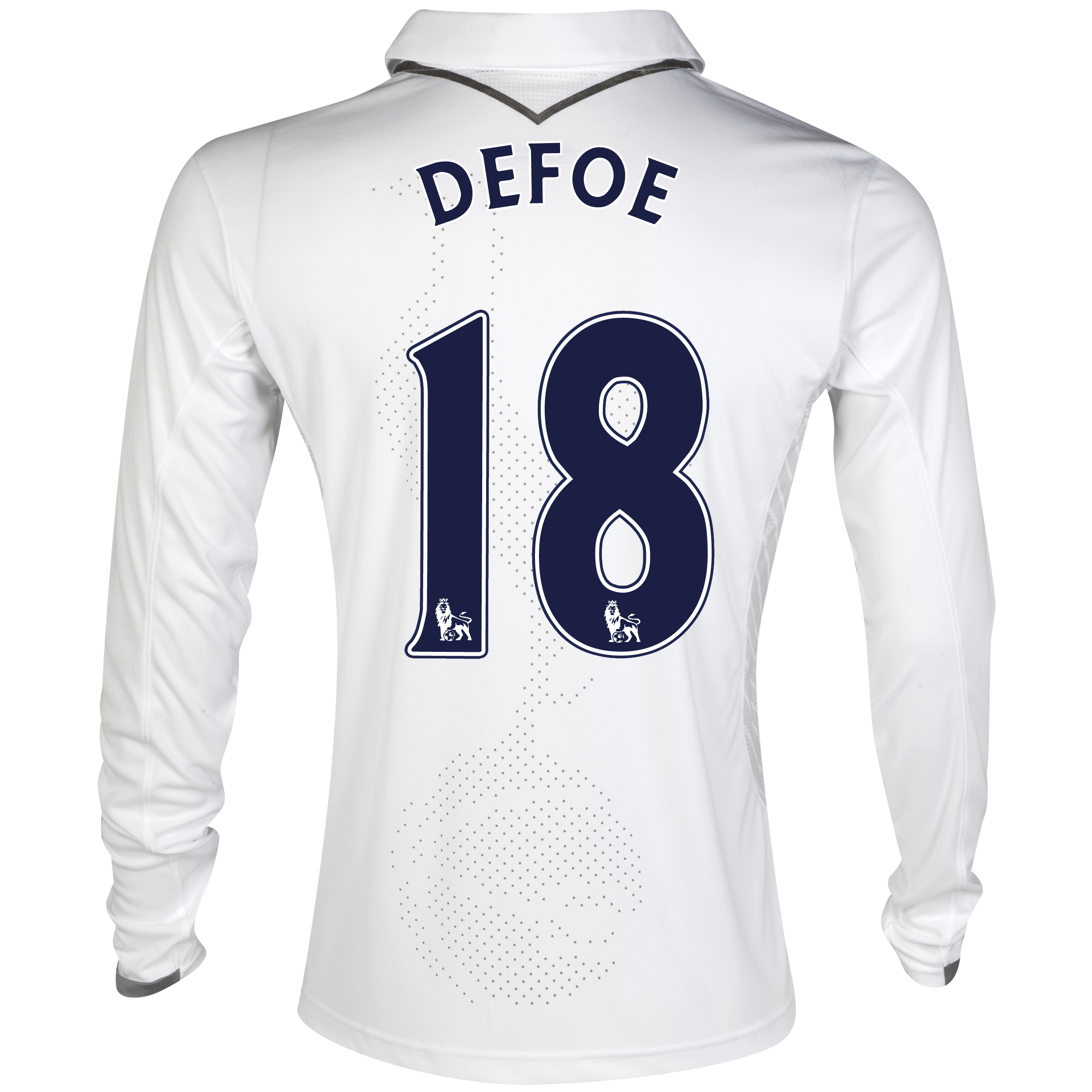 Tottenham Hotspur Home Shirt 2012/13 - Long Sleeve with Defoe 18 printing