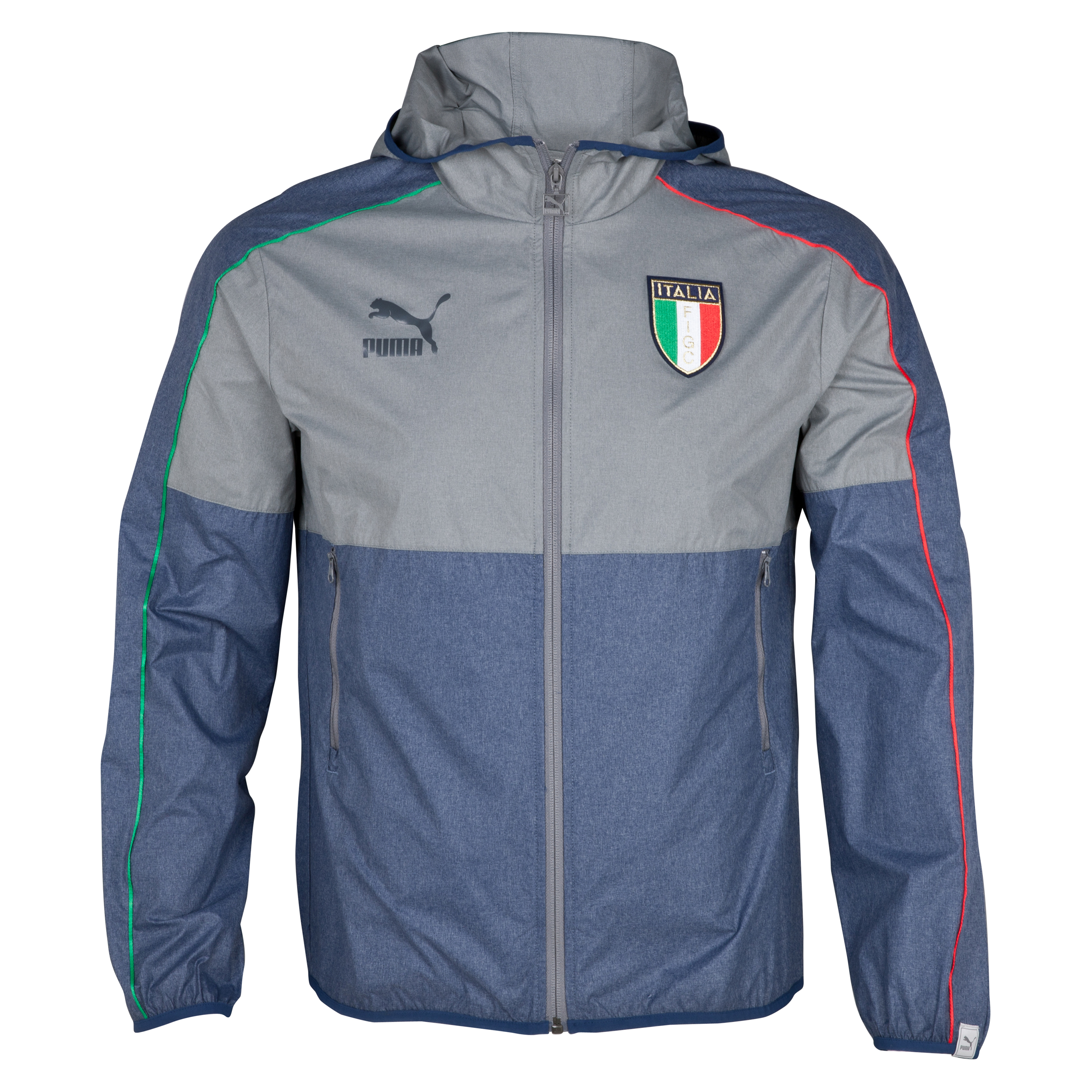 Puma Italy T7 Lightweight Jacket - Dark Denim Heather/Medium Grey Heather