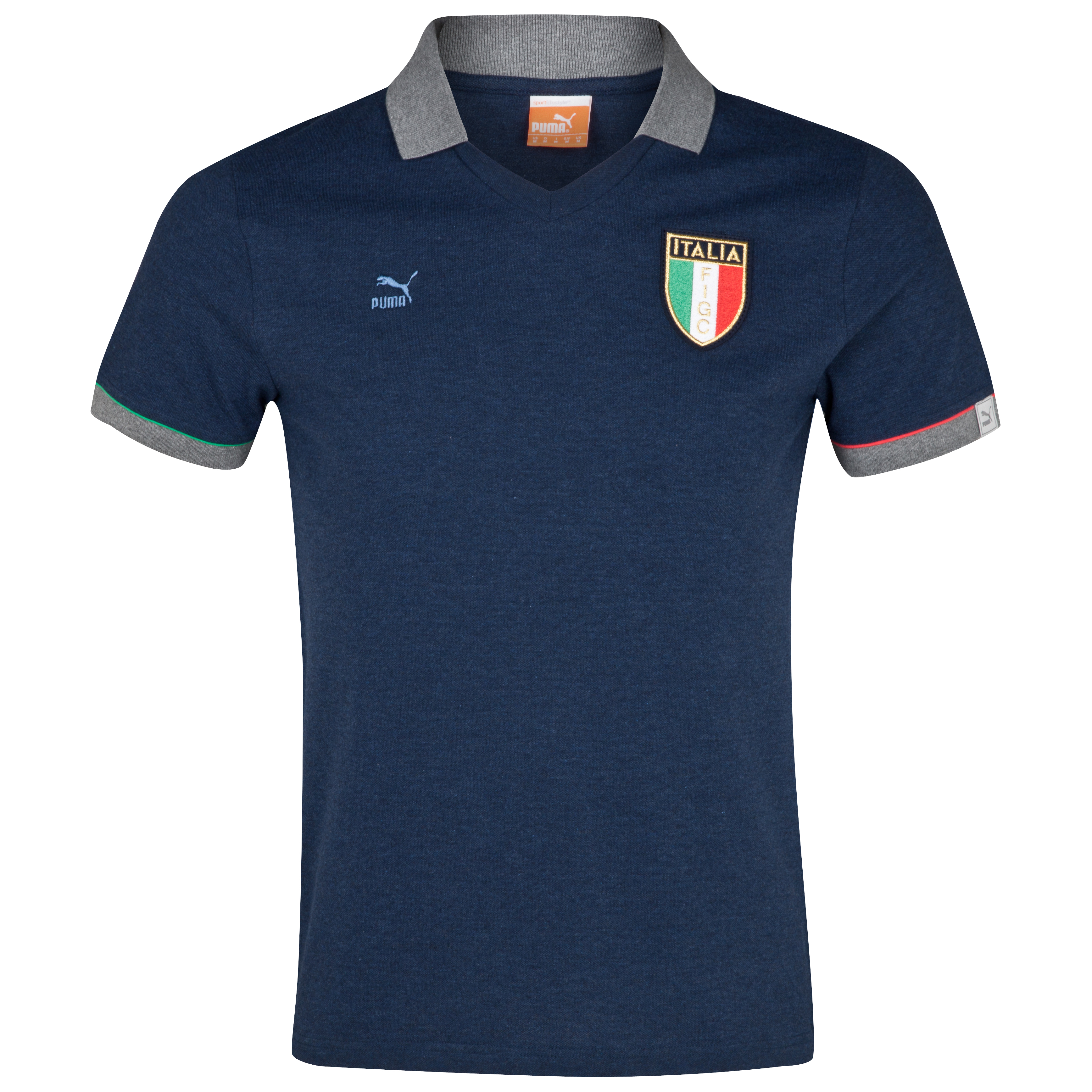 Puma Italy T7 Polo - Dark Denim Heather