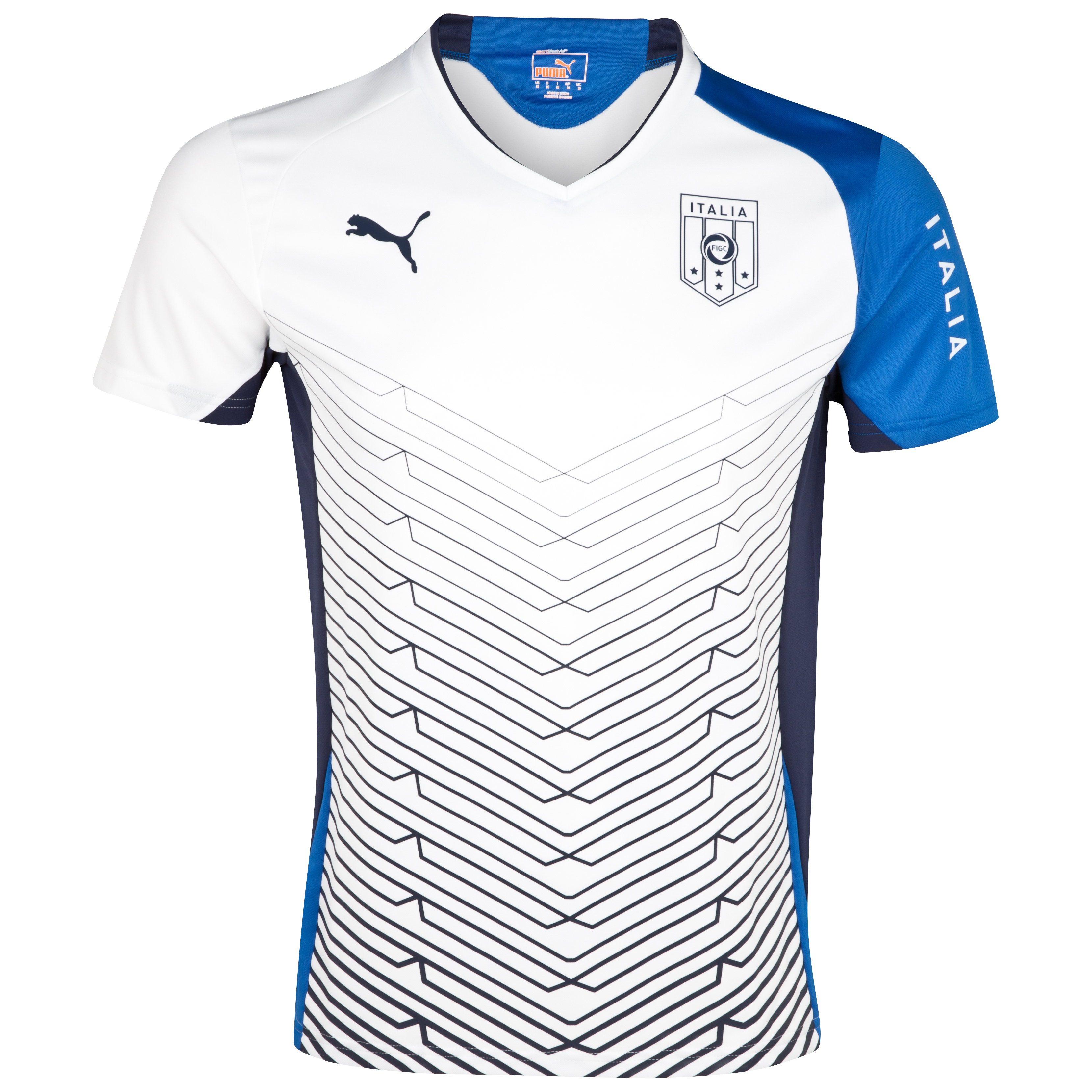Puma Italy Training T-Shirt  - Navy/White