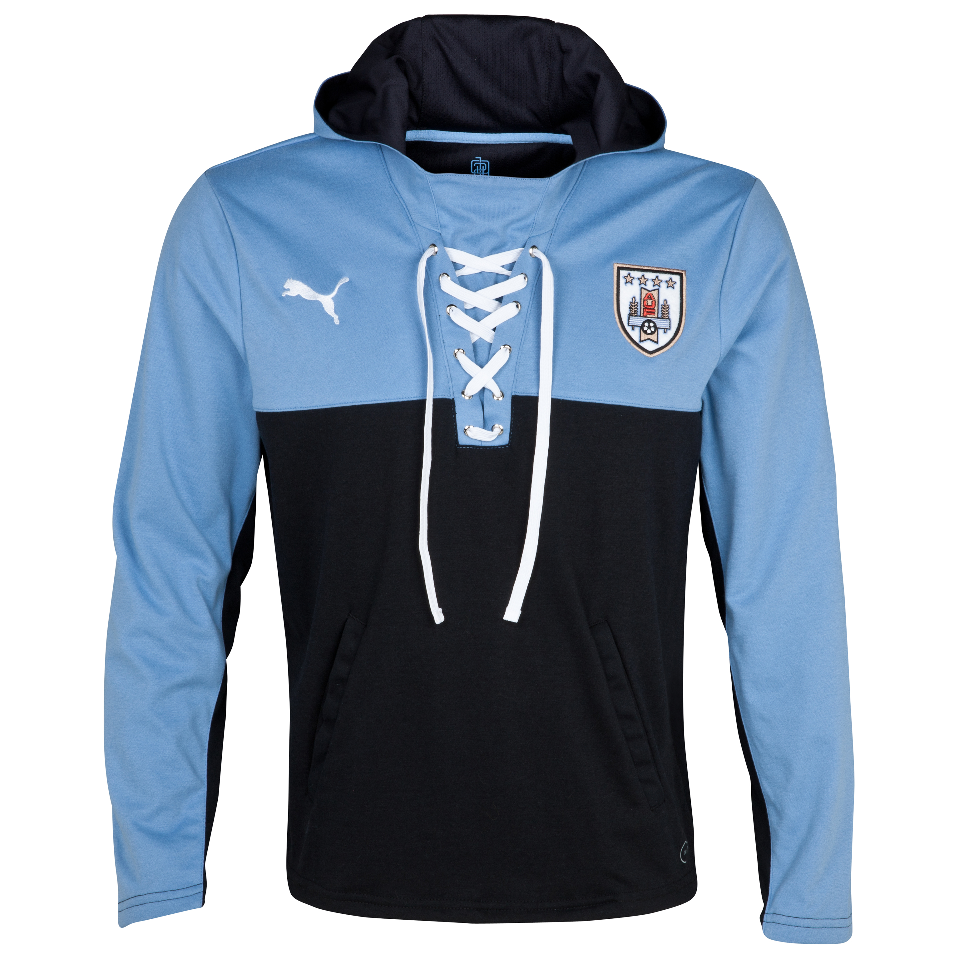 Puma Uruguay Walk Out Jacket - Black/Silver Lake Blue