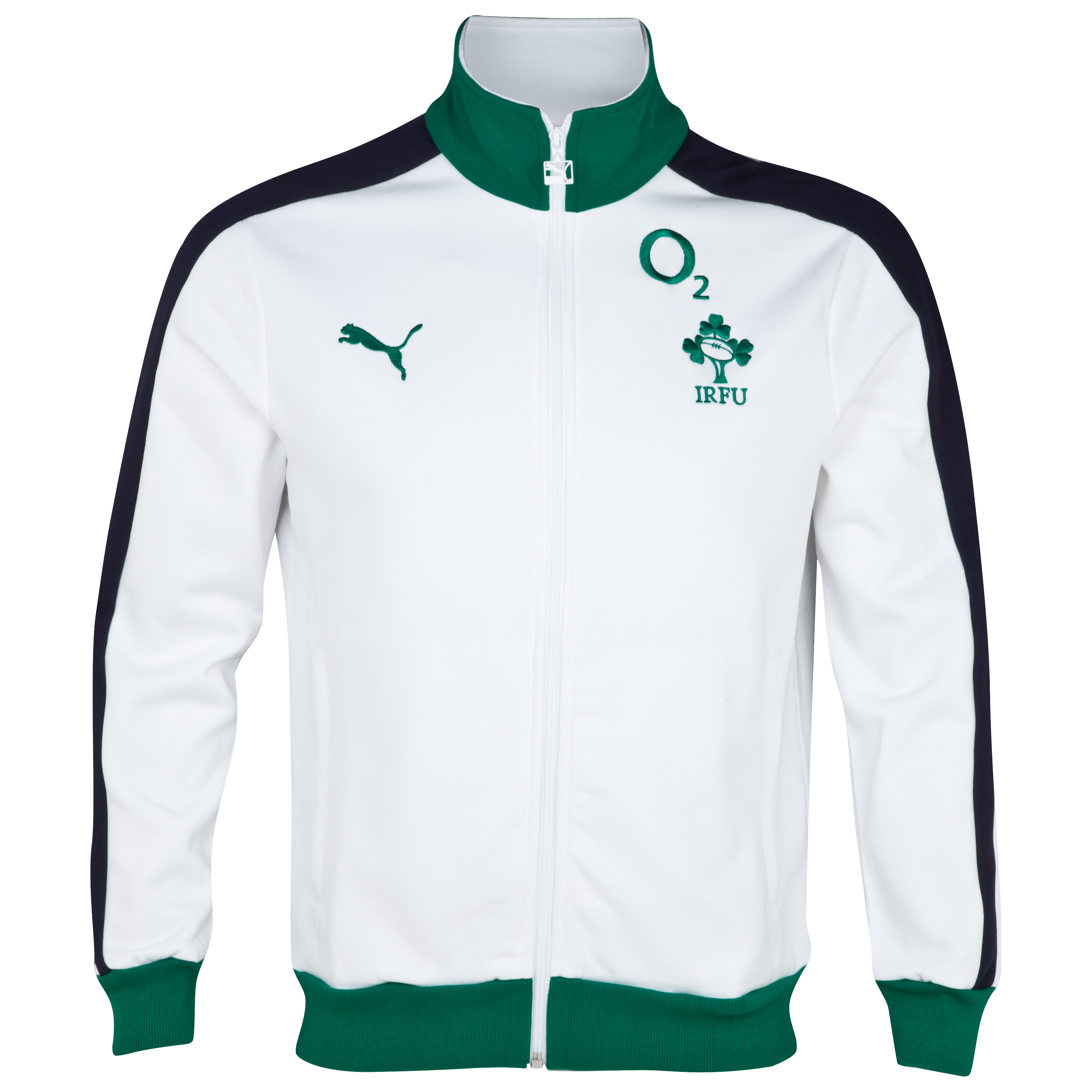 Ireland Rugby T7 Track Jacket - White/New Navy/Powder Green
