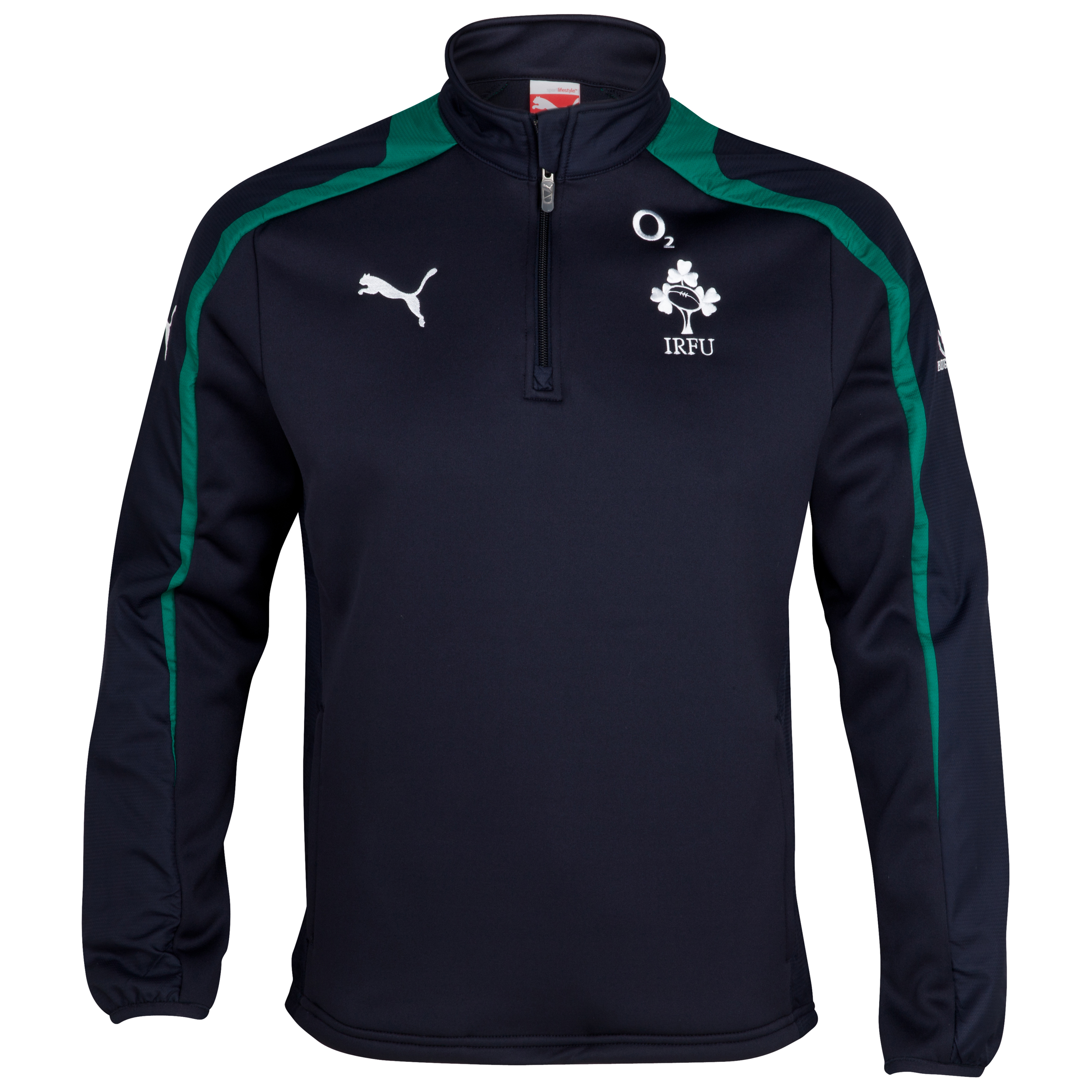 Ireland Rugby Training Fleece Top - New Navy/Powder Green/White