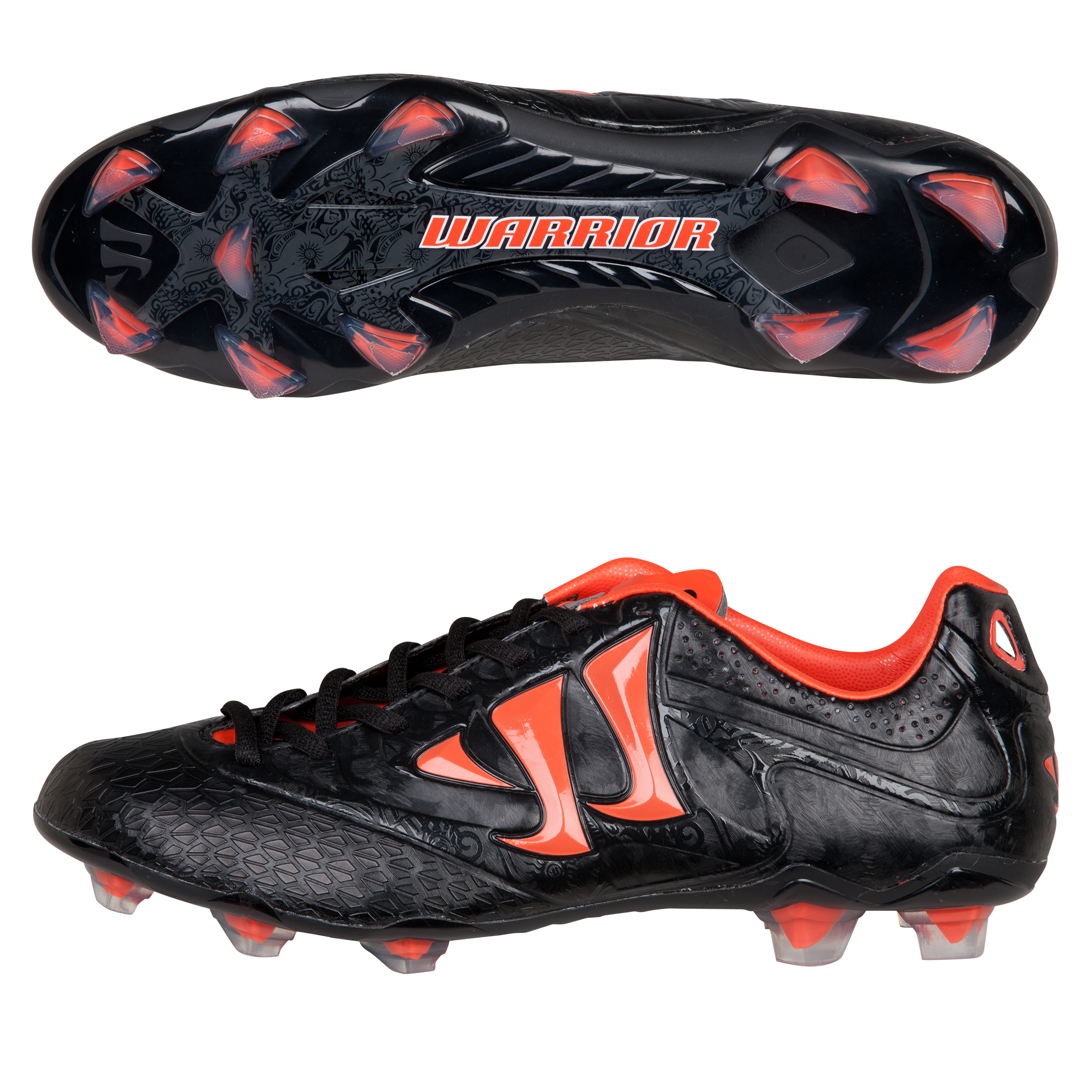 Warrior Sports Skreamer Combat Firm Ground Football Boots - Black/Spicy Orange