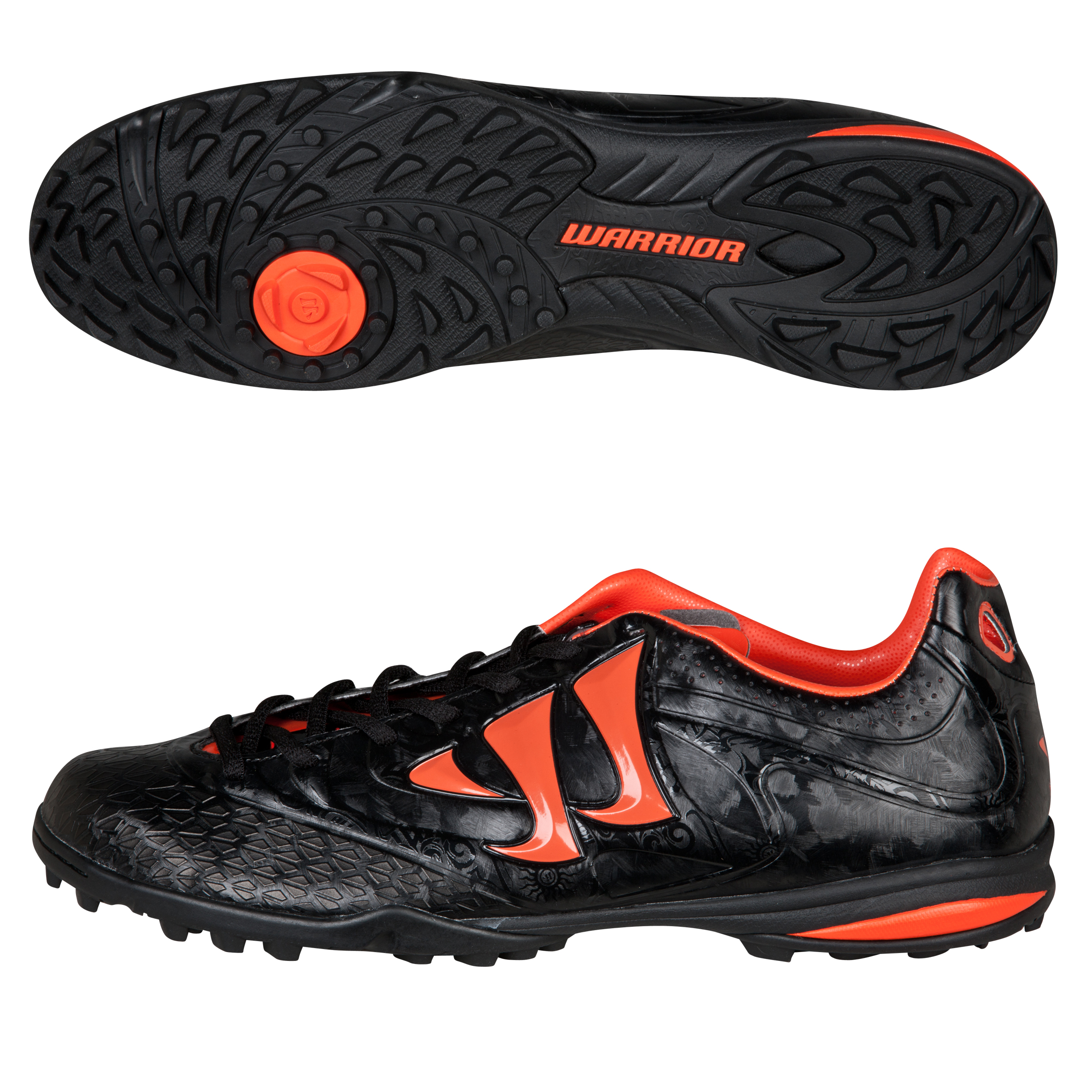 Warrior Sports Skreamer Combat Astroturf Trainers - Black/Spicy Orange
