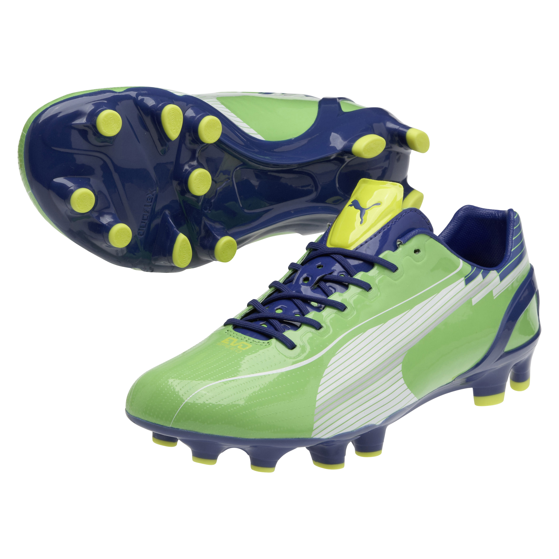 Puma evoSPEED 1 Firm Ground Football Boots - Jasmin Green/Monaco Blue/Fluo Yellow