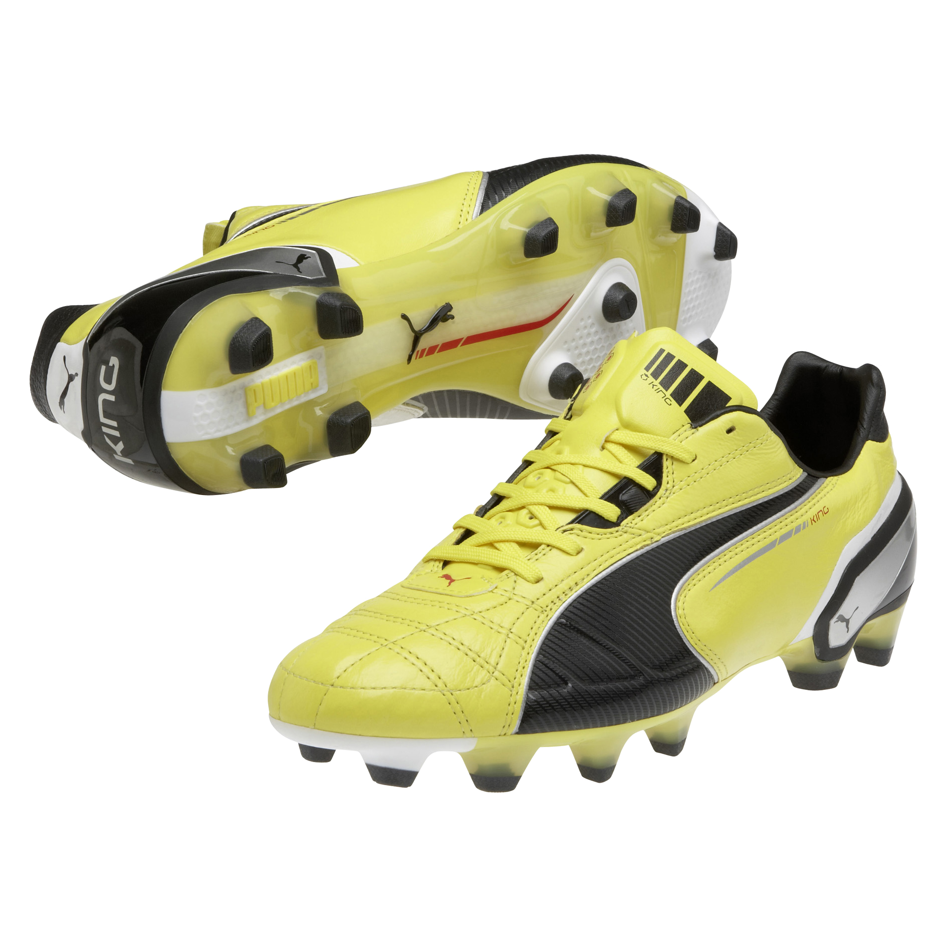 Puma King Firm Ground Football Boots - Blazing Yellow/Black/White