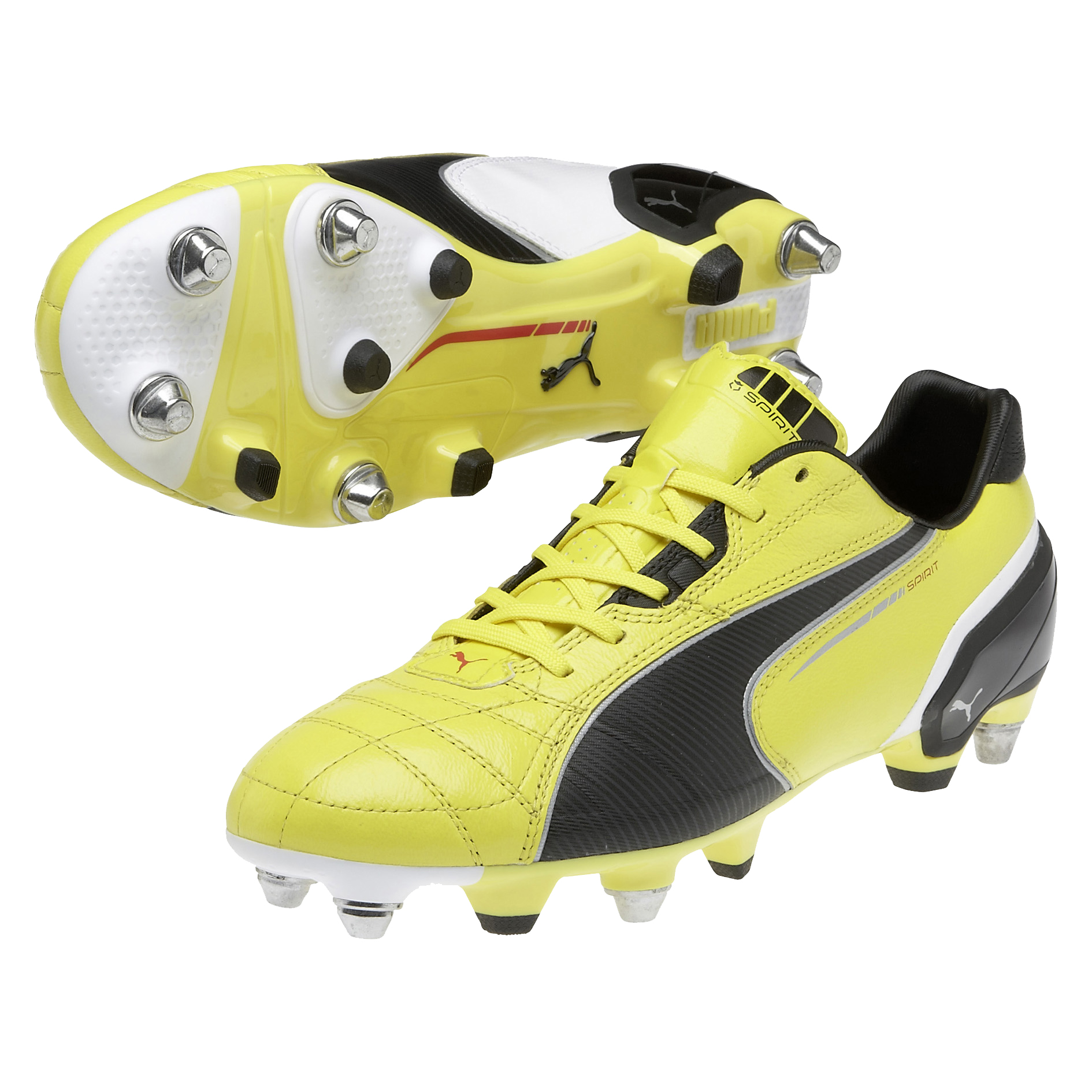 Puma Spirit Mixed Soft Ground Football Boots - Blazing Yellow/Black/White
