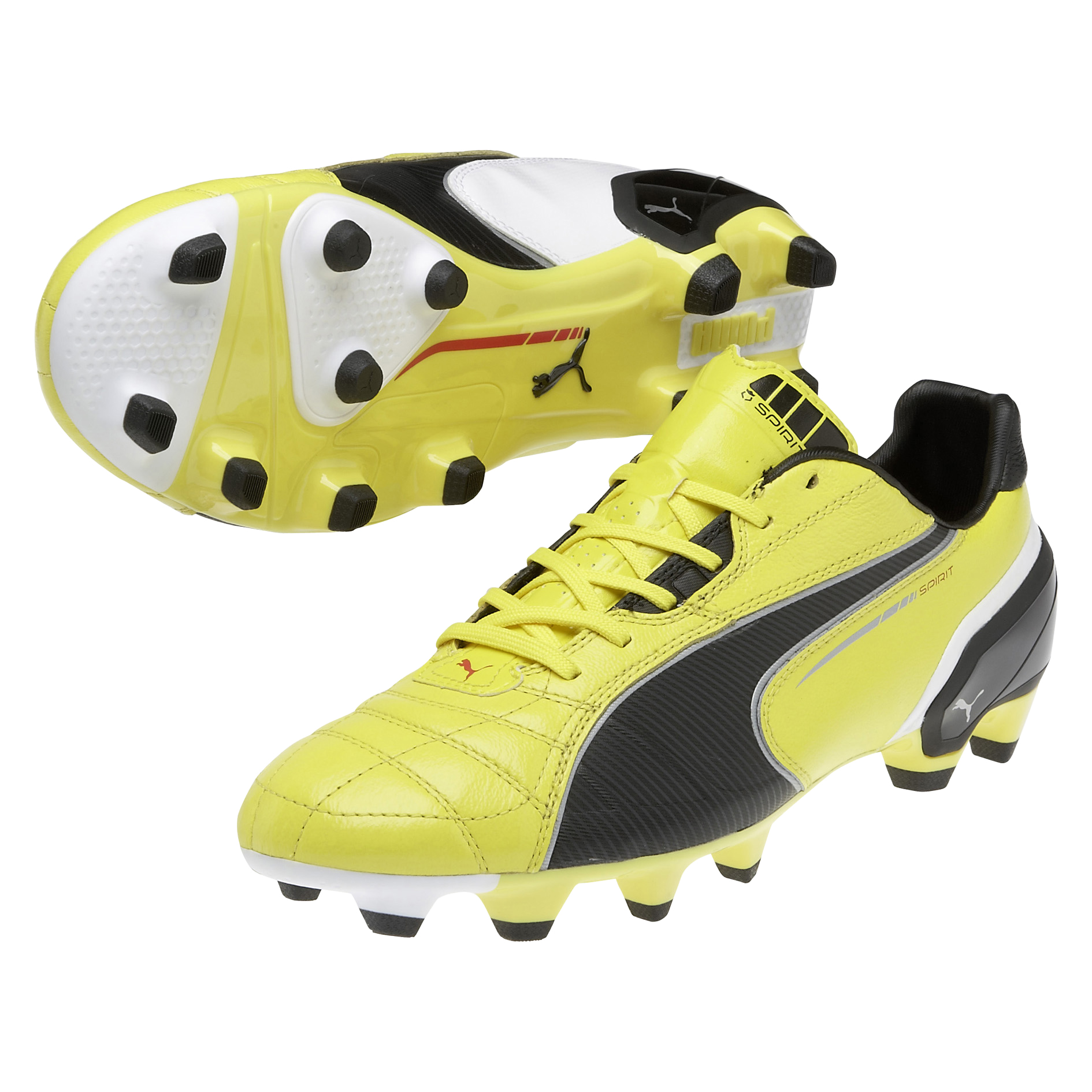 Puma Spirit Firm Ground Football Boots - Blazing Yellow/Black/White