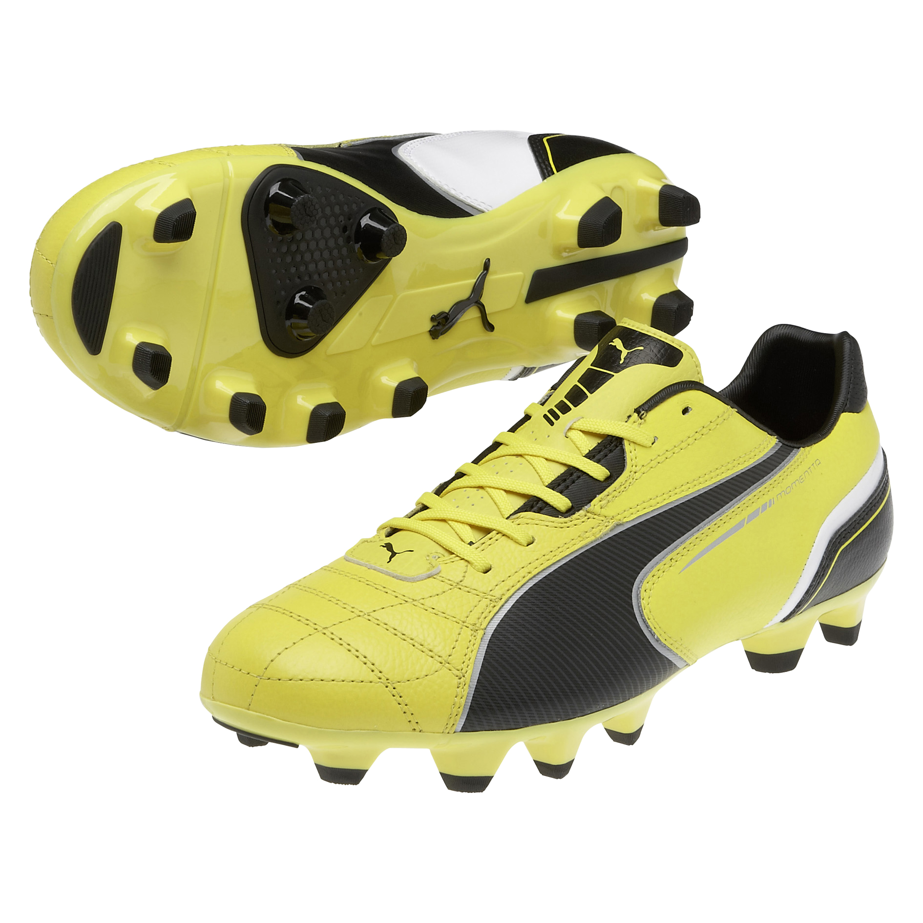 Puma Momentta Firm Ground Football Boots - Blazing Yellow/Black/White
