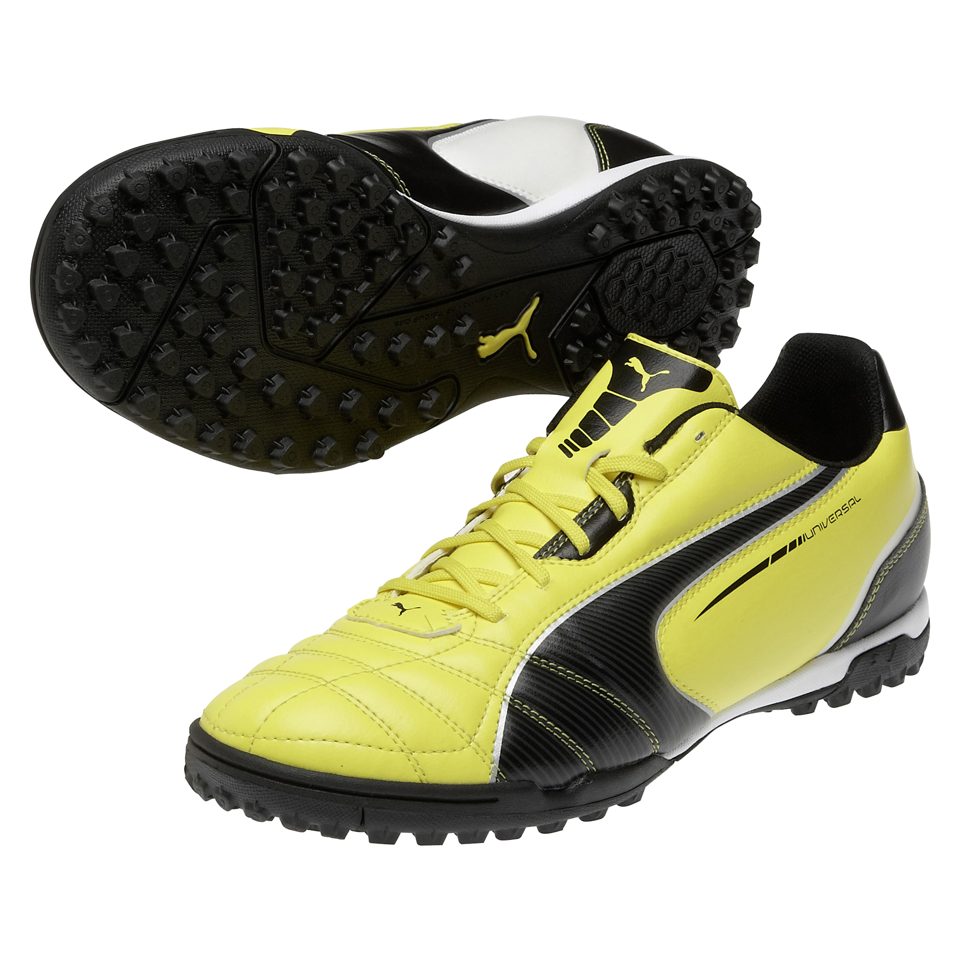 Puma Universal Astroturf Trainers - Blazing Yellow/Black/White
