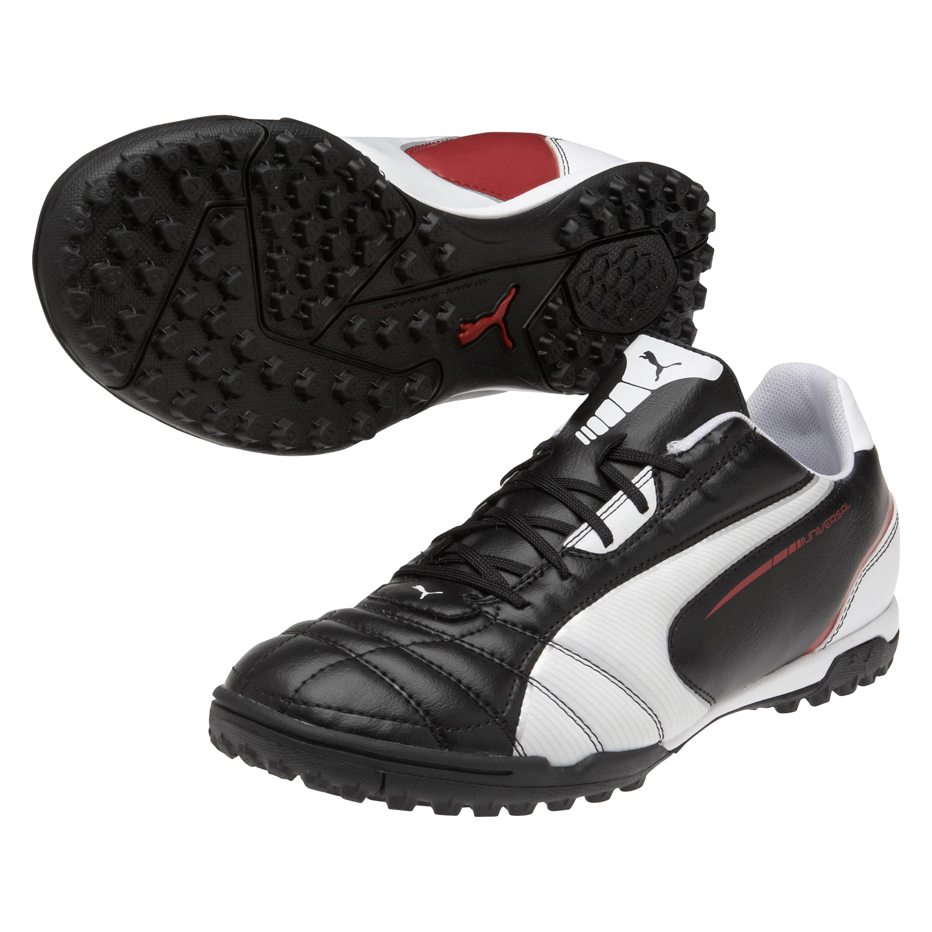 Puma Universal Astroturf Trainers - Black/White/Ribbon Red