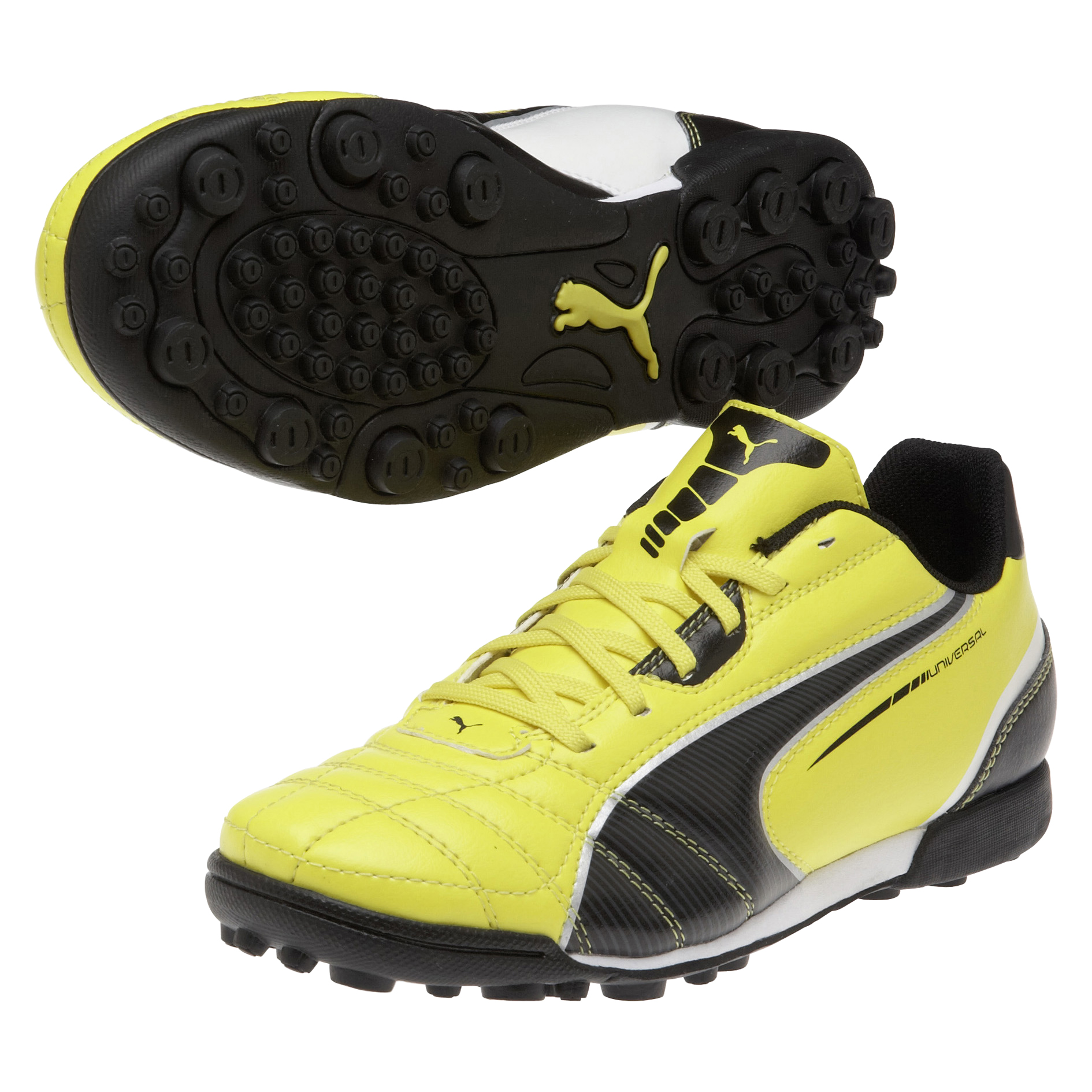 Puma Universal Astroturf Trainers - Blazing Yellow/Black/White - Kids