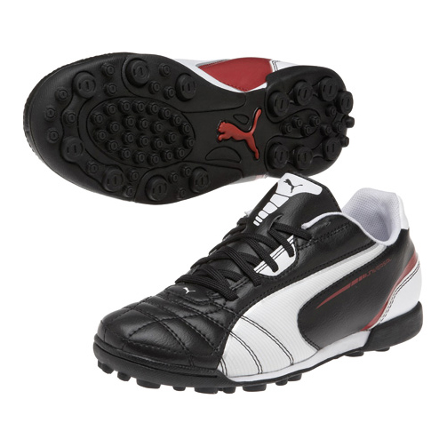 Puma Universal Astroturf Trainers - Black/White/Ribbon Red - Kids