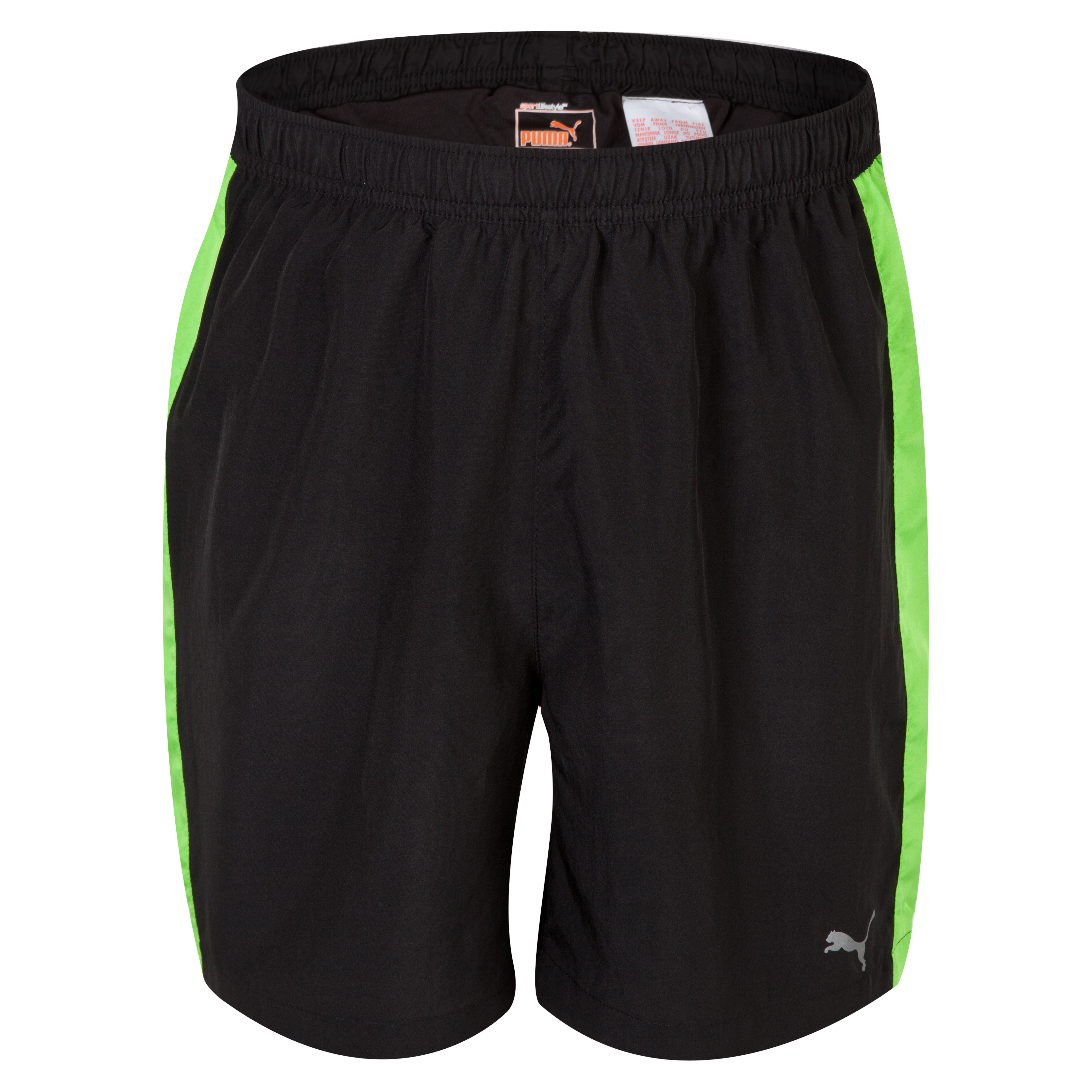 Puma PE 7inch Baggy Shorts - Black/Jasmine Green