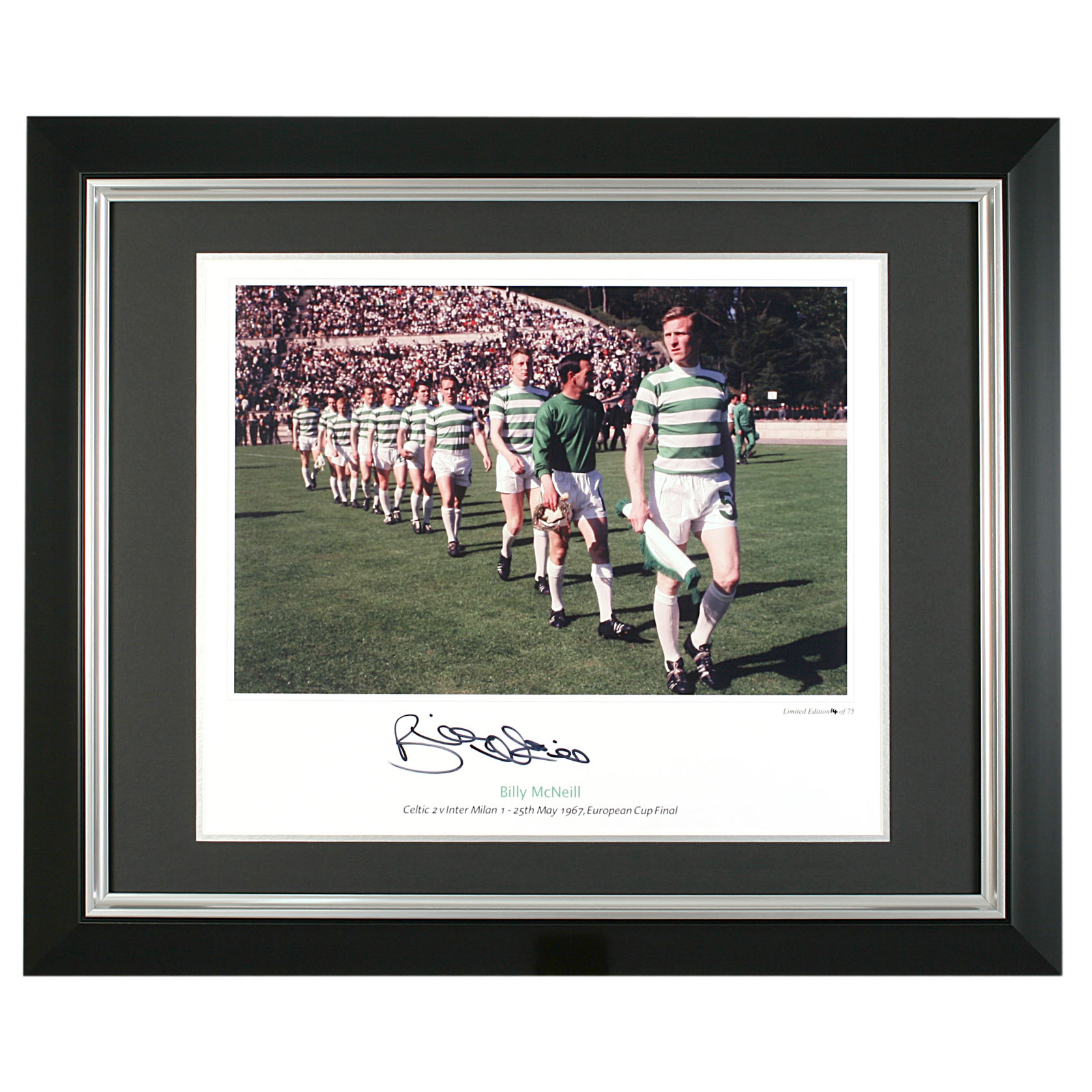 Billy McNeill Signed Print - 20 x 16 Inch