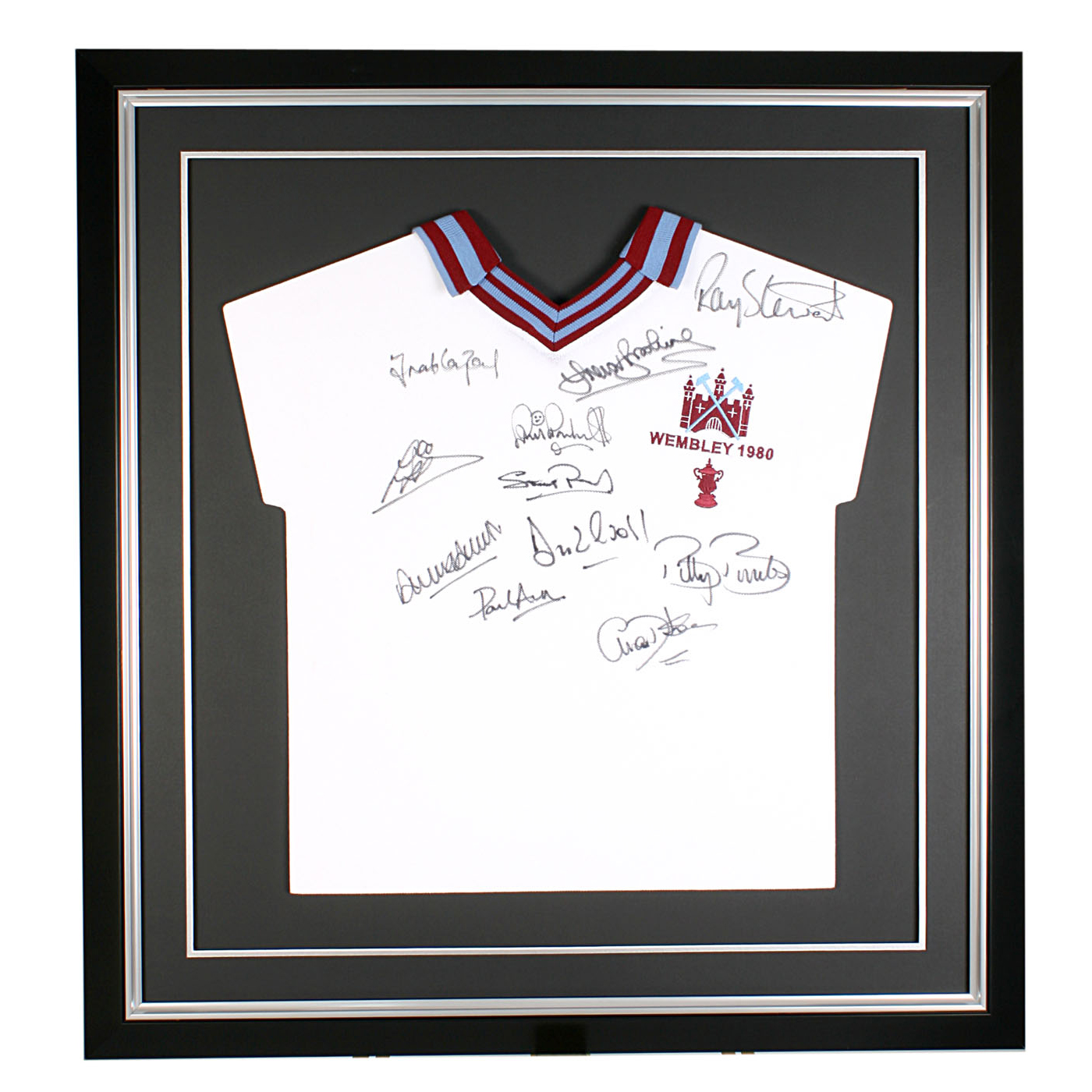 Signed 1980 FA Cup West Ham United Shirt - 29 x 27 Inch