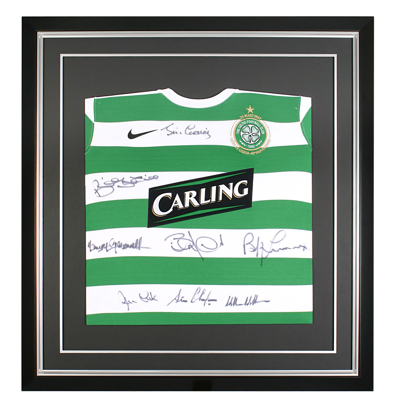 Signed Celtic Lisbon Home Shirt - Short - 29 x 27 Inch