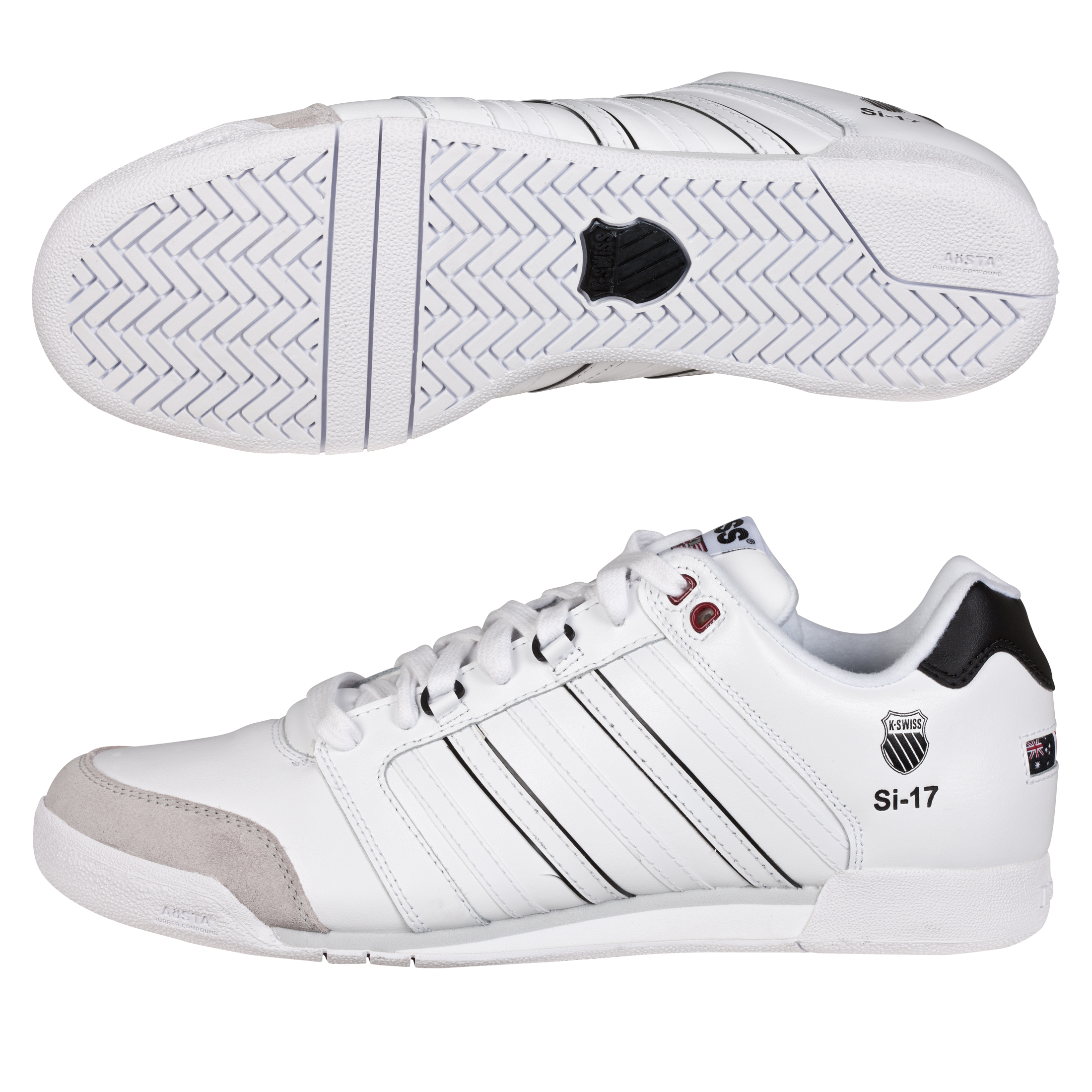K Swiss K-Swiss SI-17 Trainers - White/Black/Red