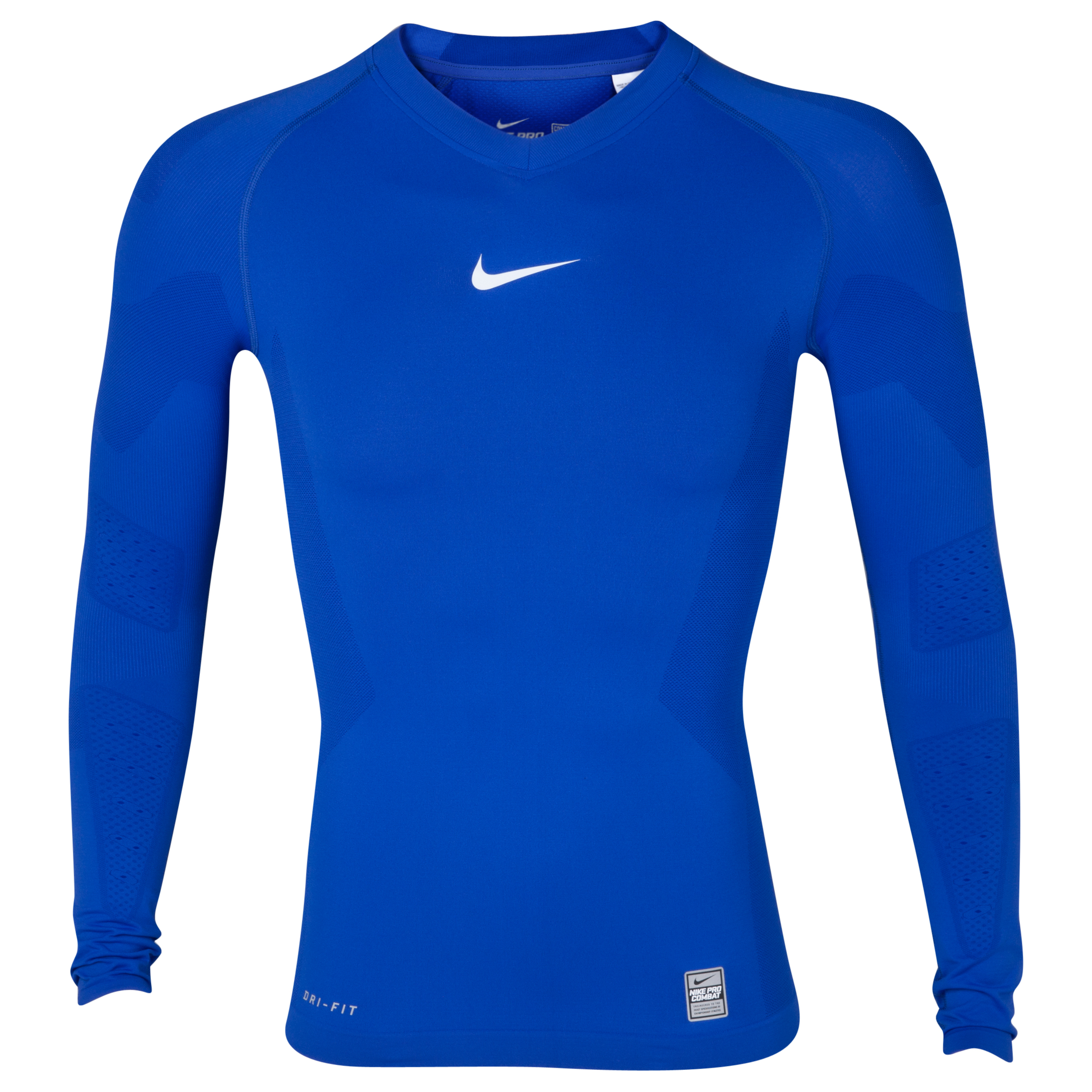 Nike Pro Combat Hypercool Long Sleeved Top - Varsity Royal
