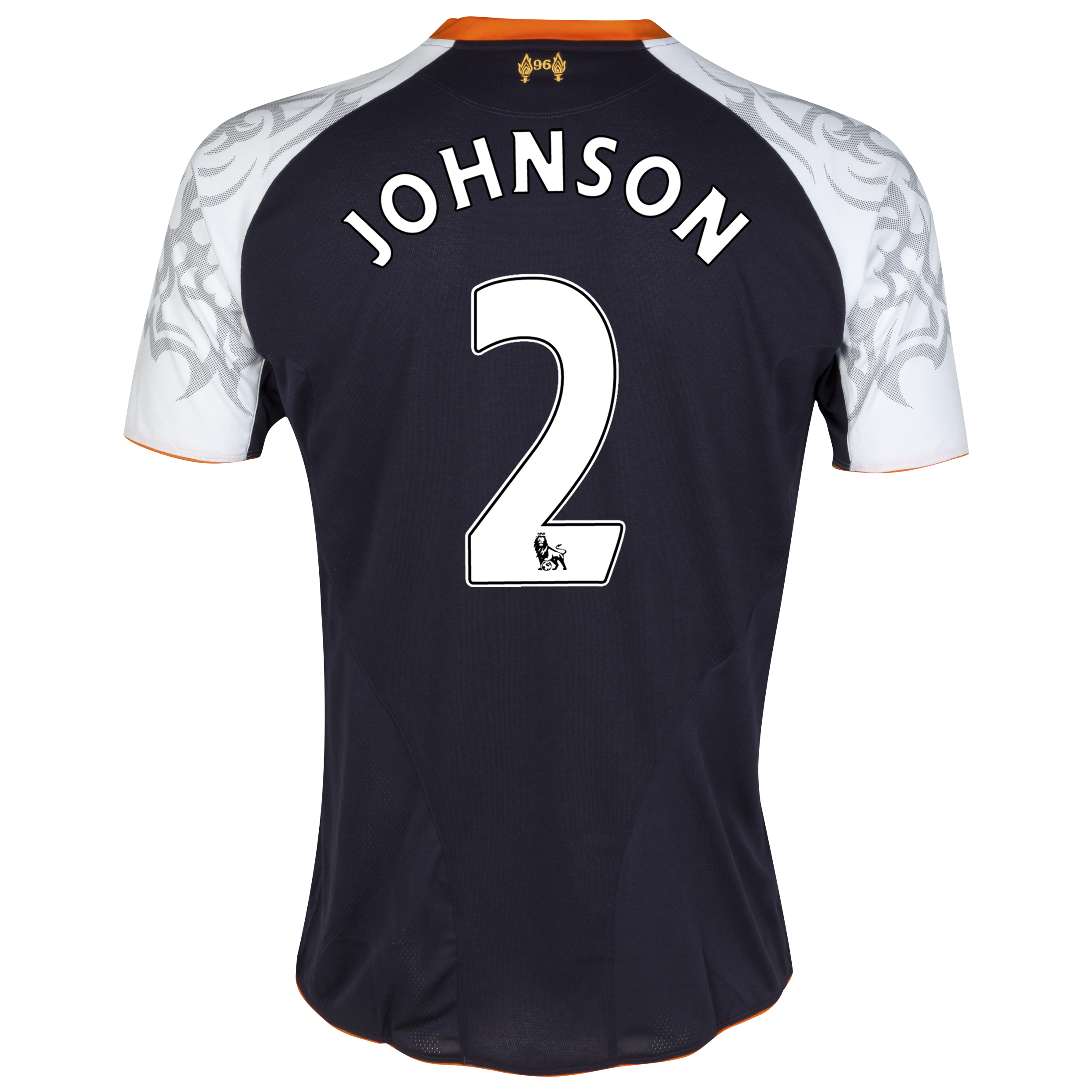 Liverpool Third Shirt 2012/13 with Johnson 2 printing