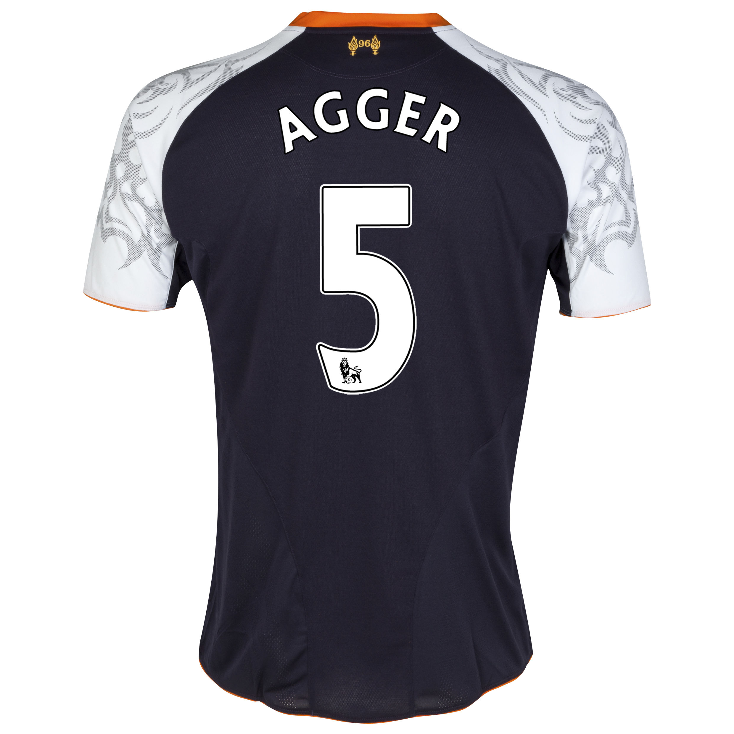 Liverpool Third Shirt 2012/13 with Agger 5 printing