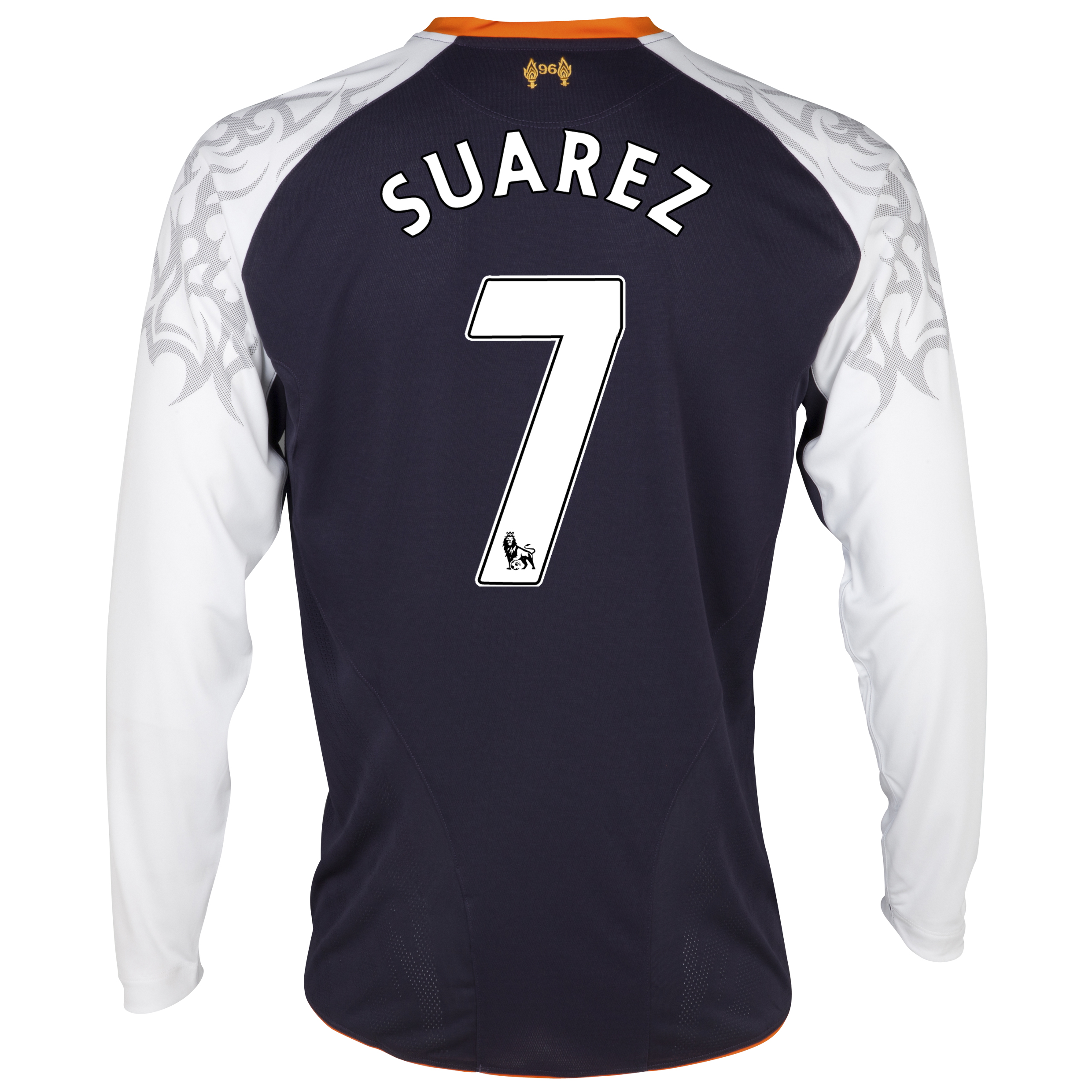 Liverpool Third Shirt 2012/13 - Long Sleeve - Kids with Suarez 7 printing