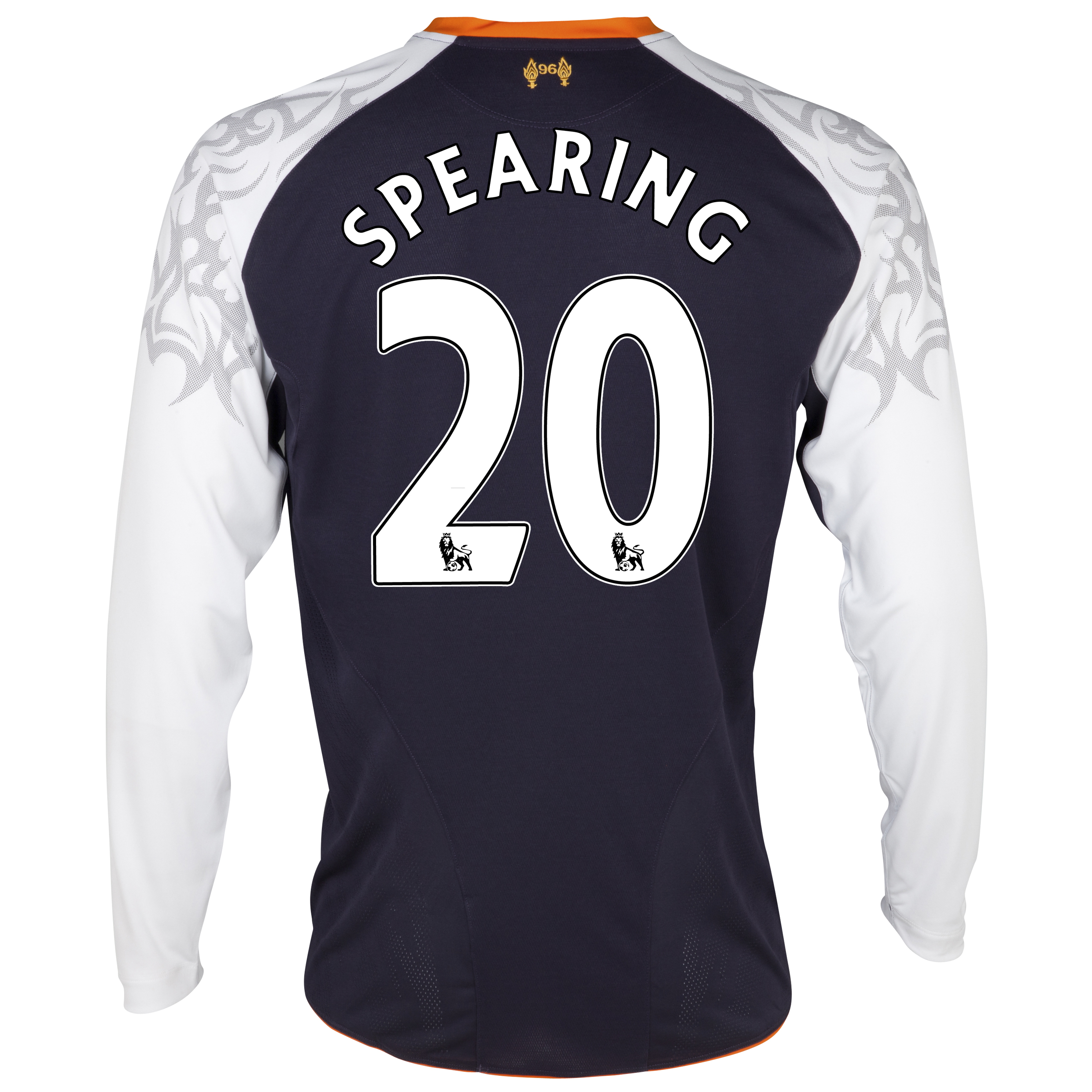 Liverpool Third Shirt 2012/13 - Long Sleeve - Kids with Spearing 20 printing