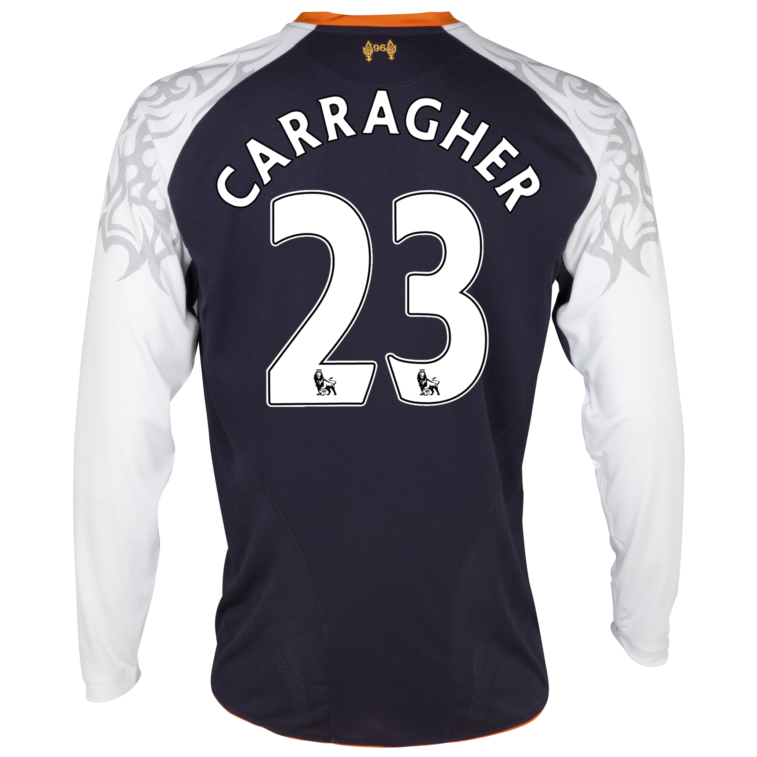 Liverpool Third Shirt 2012/13 - Long Sleeve - Kids with Carragher 23 printing