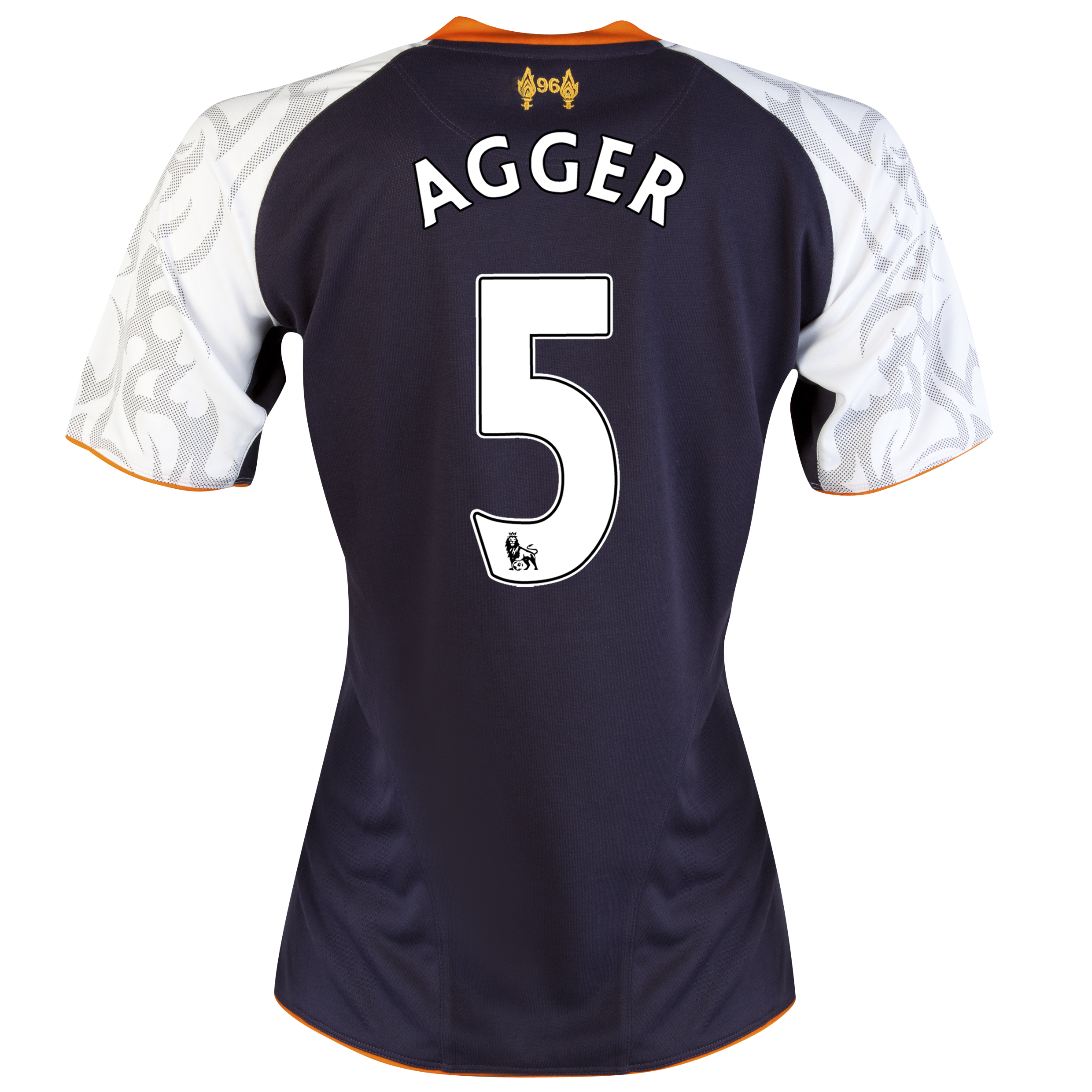 Liverpool Third Shirt 2012/13 - Womens with Agger 5 printing